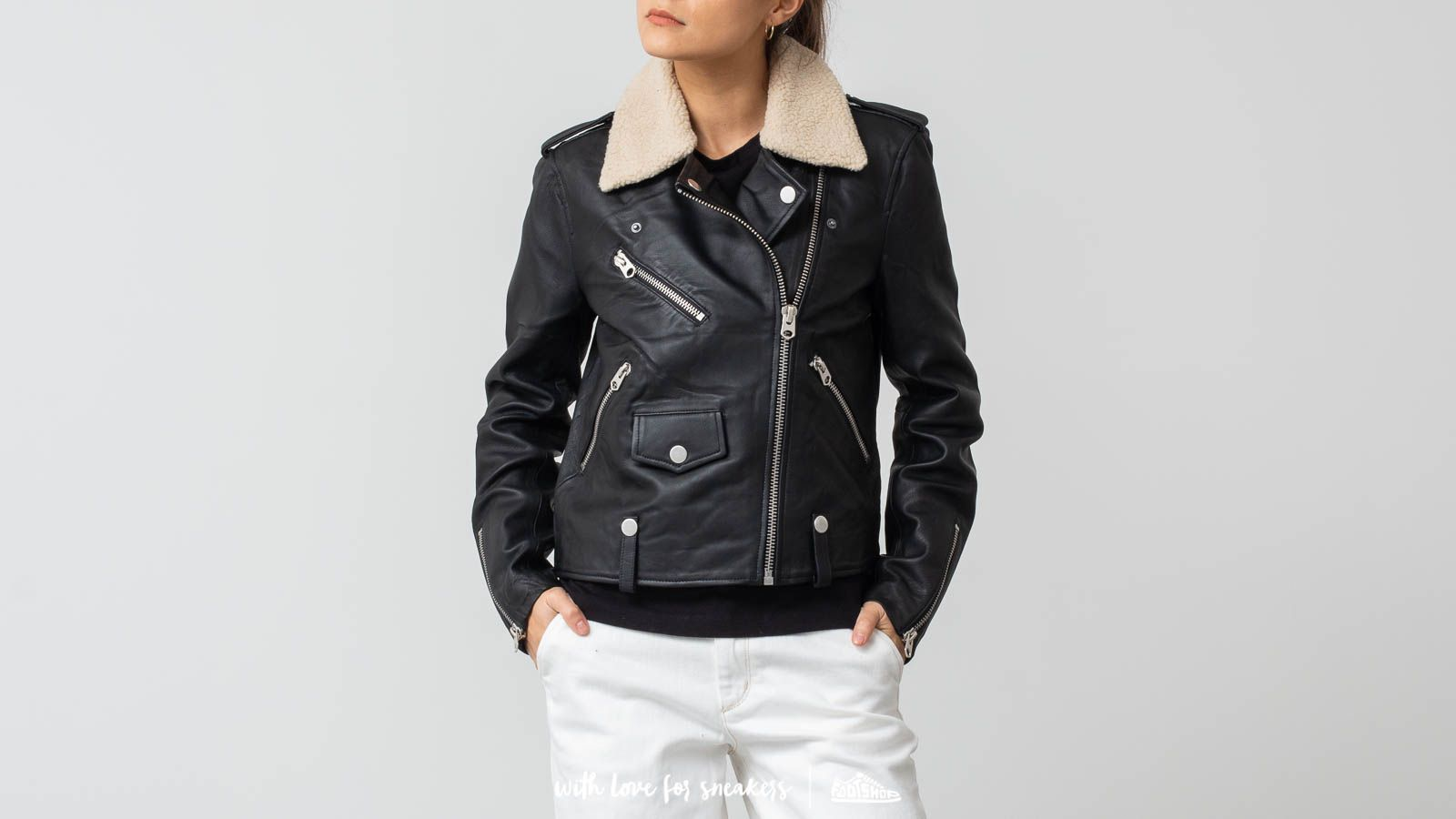 SELECTED Leather Teddy Jacket