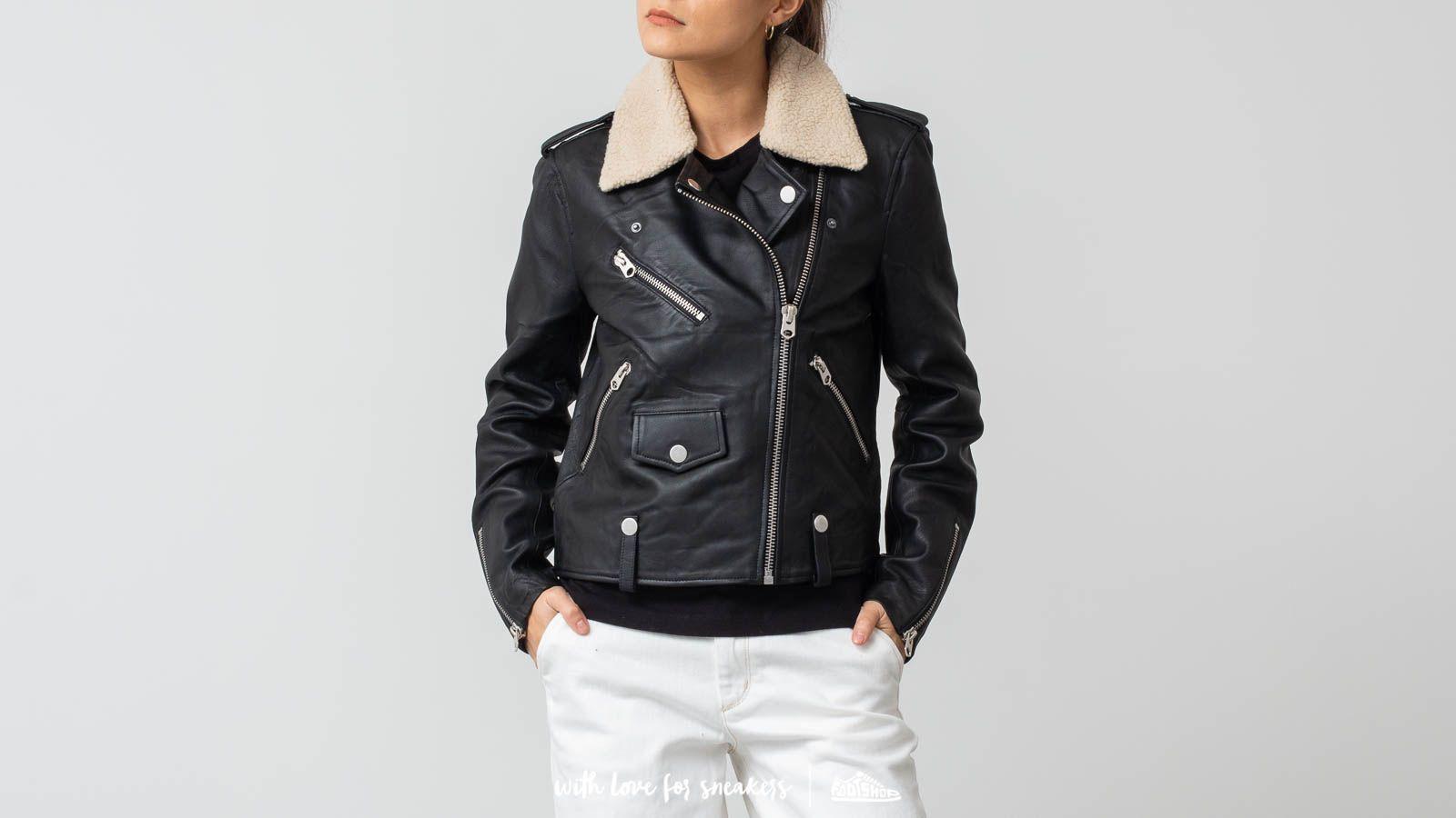 SELECTED Leather Teddy Jacket Black a muy buen precio 141 € comprar en Footshop