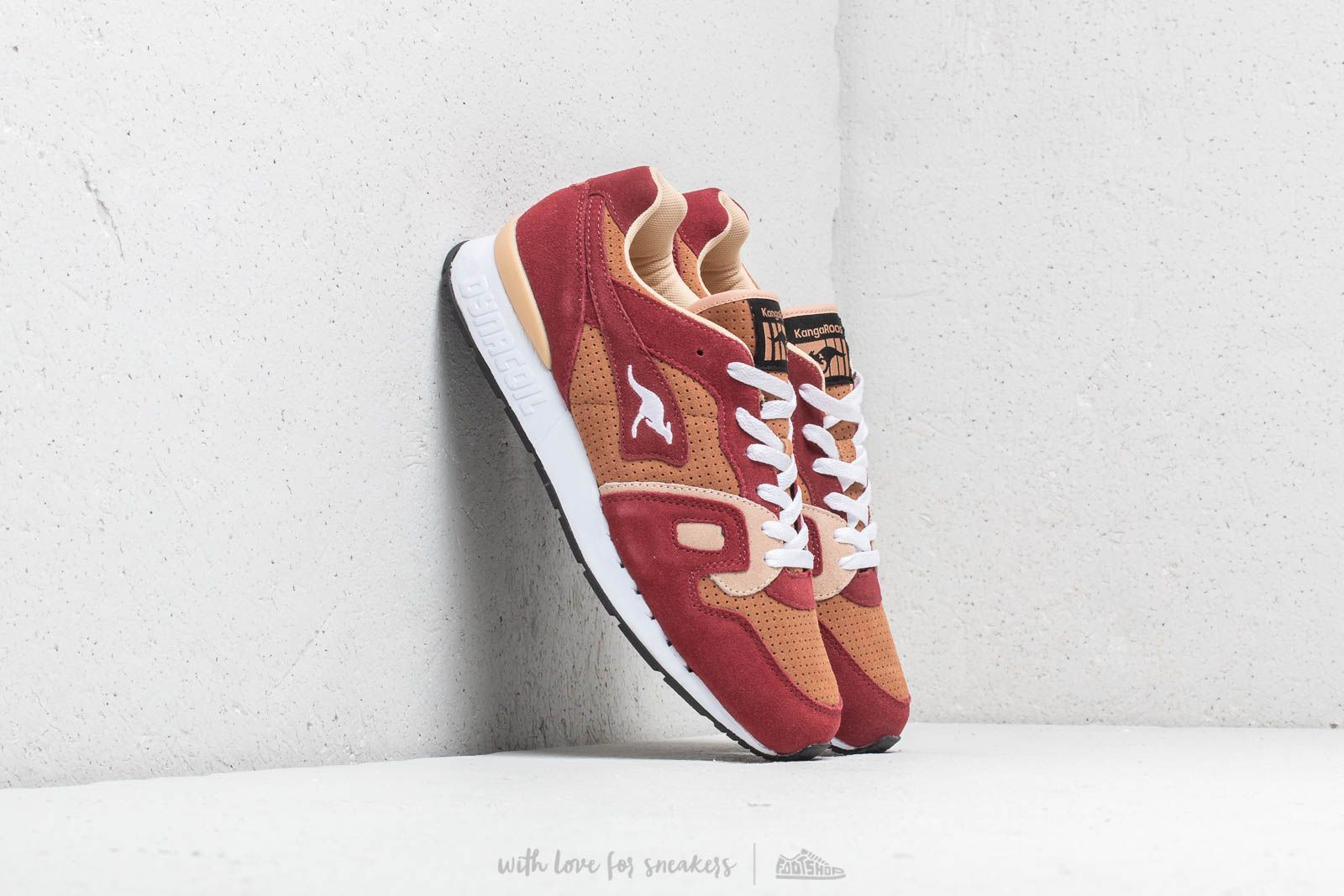 Pánské tenisky a boty KangaROOS Omnicoil Velvet Red/ Beige