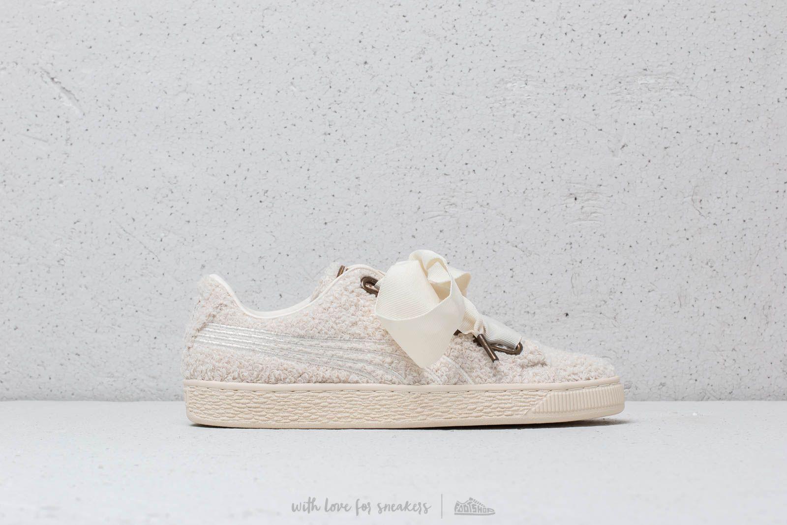 size 40 8809e da040 Puma Basket Heart Teddy Wmn's White-Whisper | Footshop