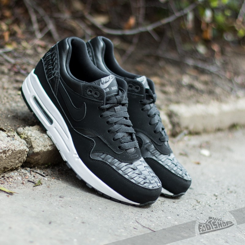 cb2f54872161 Nike Air Max 1 Woven Black Black-Dark Grey