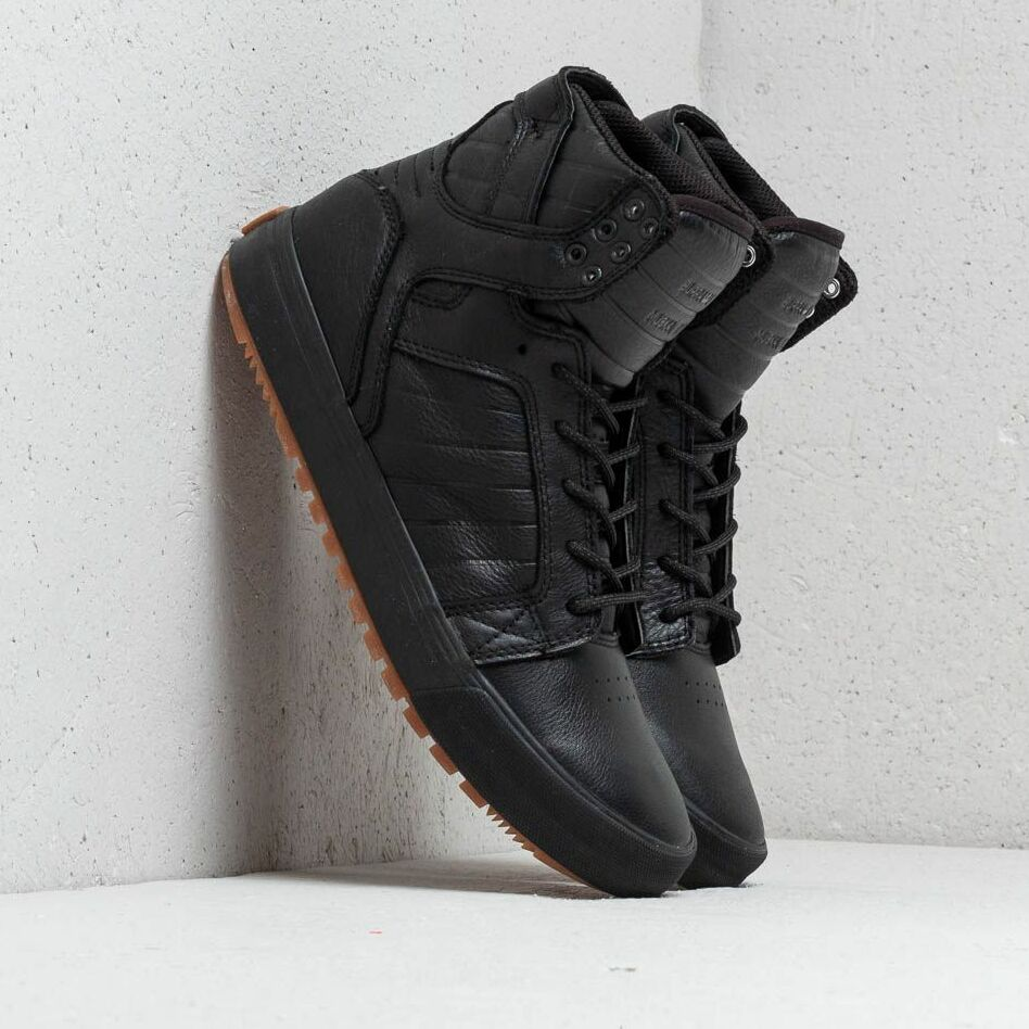 Supra Skytop Cold Weather Black-Black/ Gum EUR 43