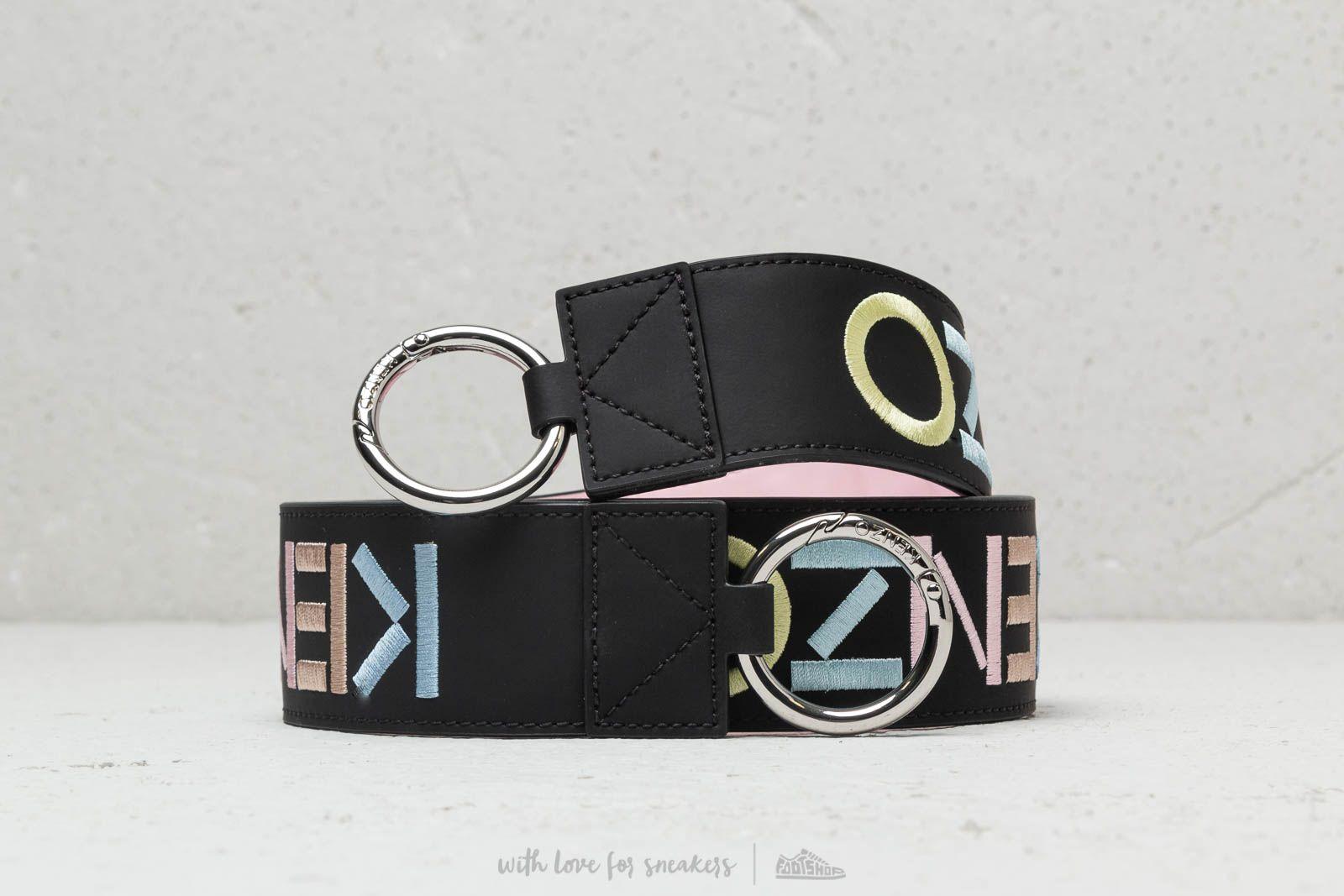 KENZO Logo Reversible Leather Shoulder Strap