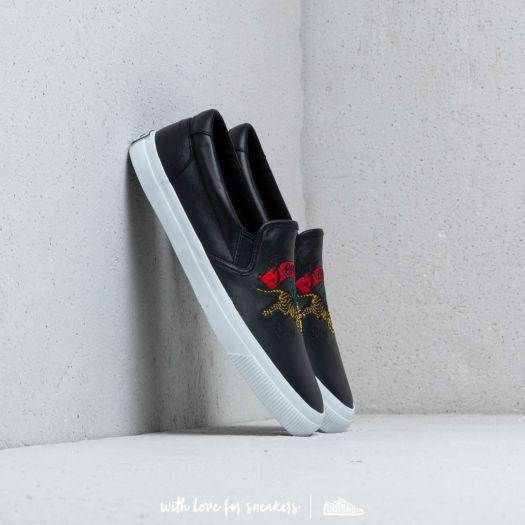 93d89290a Kenzo K-Skate Sneakers W Jumping Tiger Slip On Black/ White