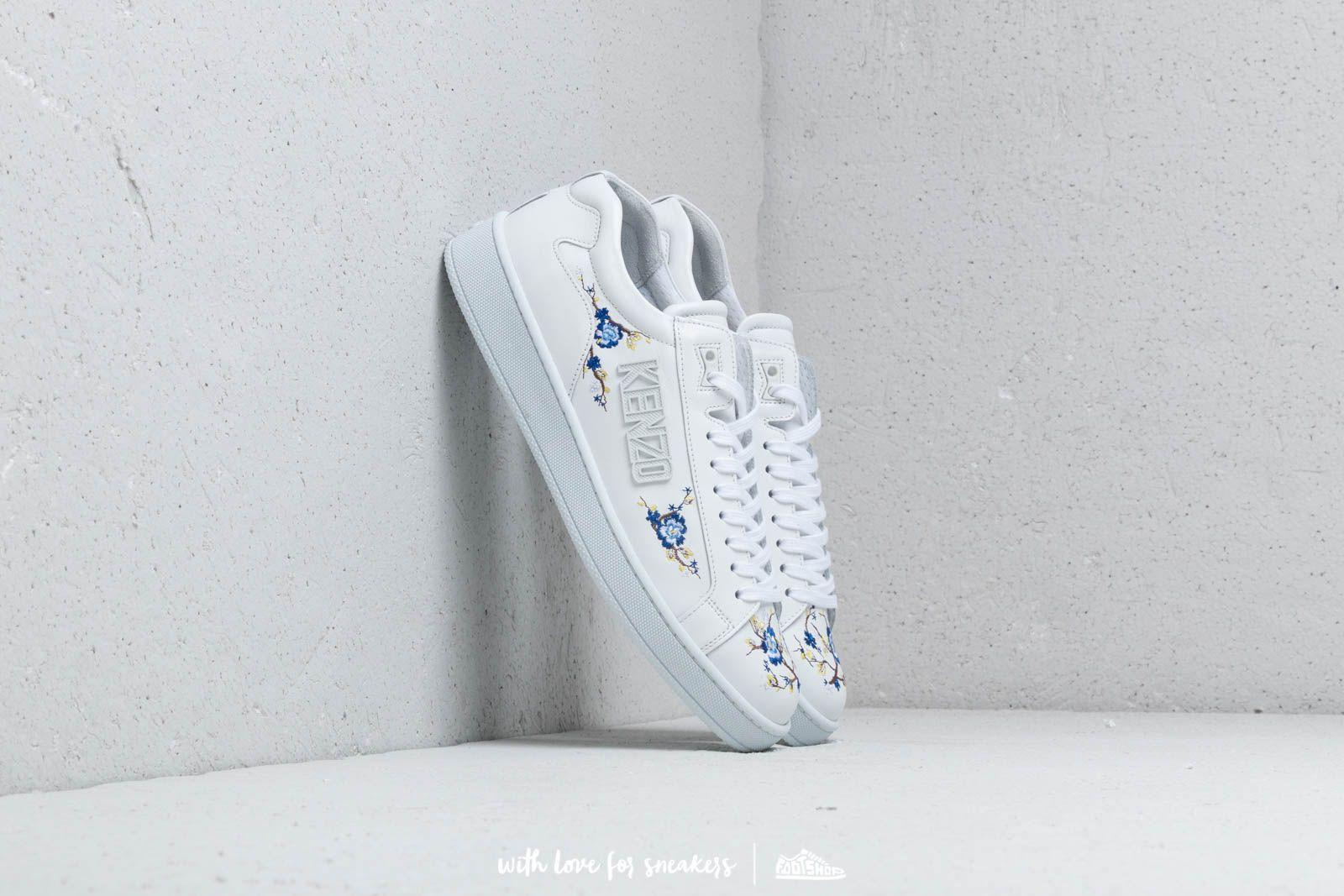 Dámské tenisky a boty Kenzo Tennix Sneakers Flowers E White