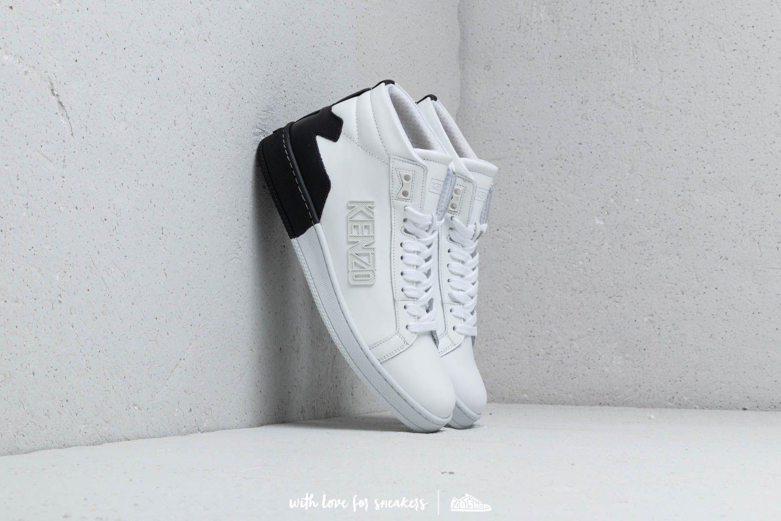 Kenzo High Top Tennix Sneakers White