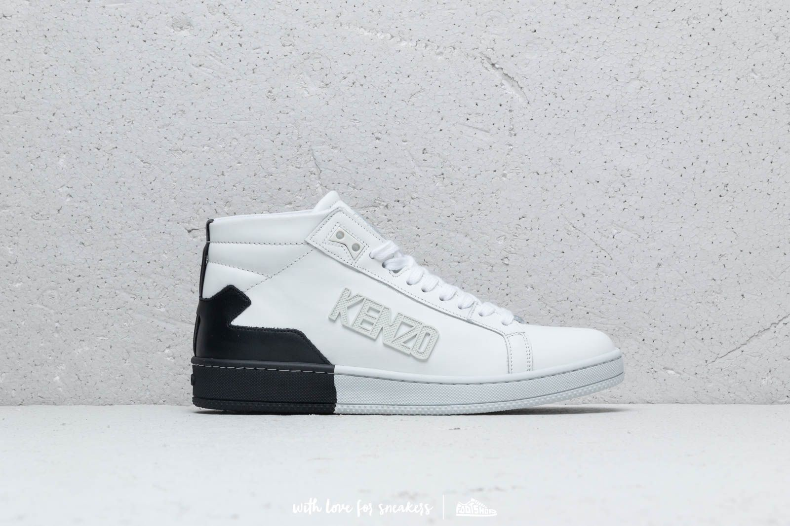 163429d3ca Kenzo High Top Tennix Sneakers White | Footshop