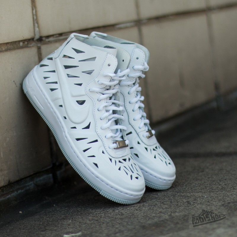 on sale 75d90 58d38 Nike W AF1 Ultra Force Mid Joli White White-Pure Platinum