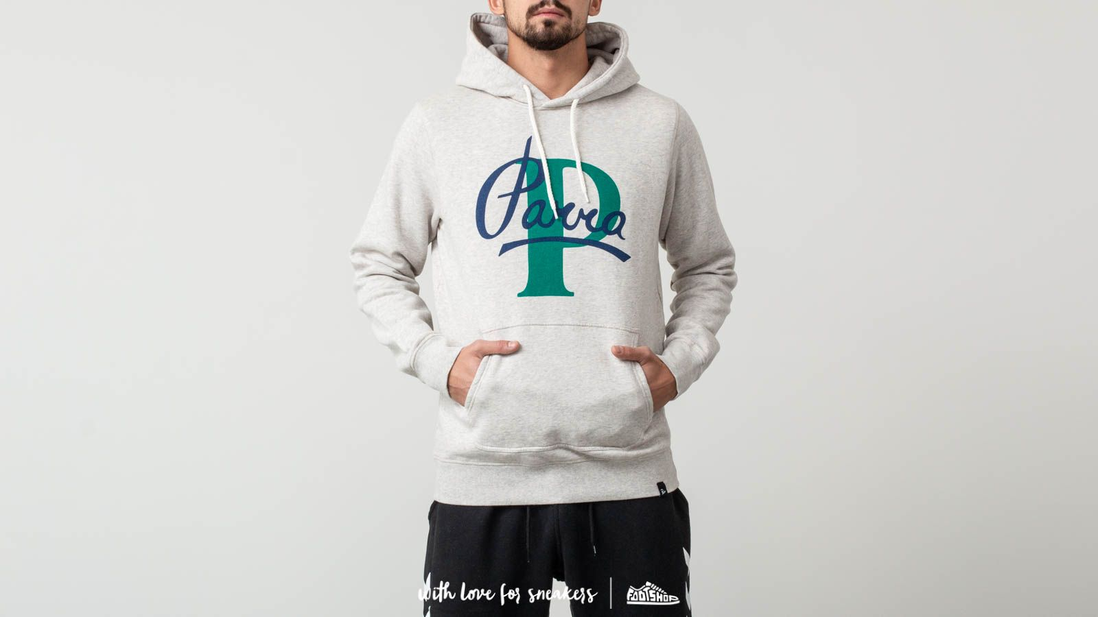 by Parra Painterly Script Hooded Sweater
