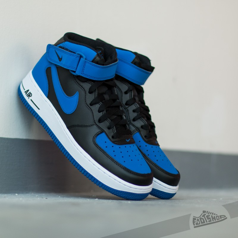 new concept 6c475 dbb75 Nike Air Force 1 Mid ´07. Black Game Royal-White