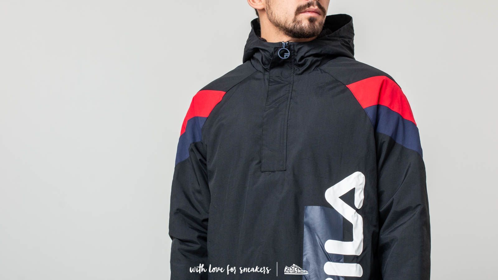 2c433bb7e887 Fila Tru Faux Lambswool Lined Jacket Black at a great price 136 € buy at  Footshop