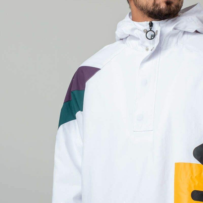 Fila Tru Faux Lambswool Lined Jacket White