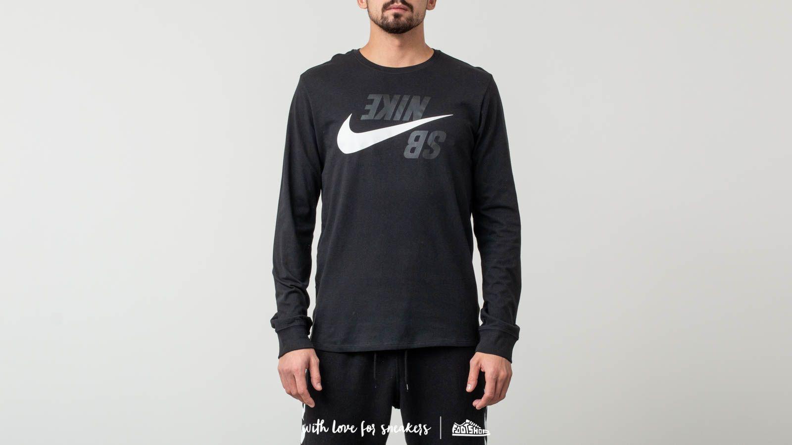 Nike SB Long Sleeve T-Shirt Phantom Black/ White za skvělou cenu 560 Kč koupíte na Footshop.cz