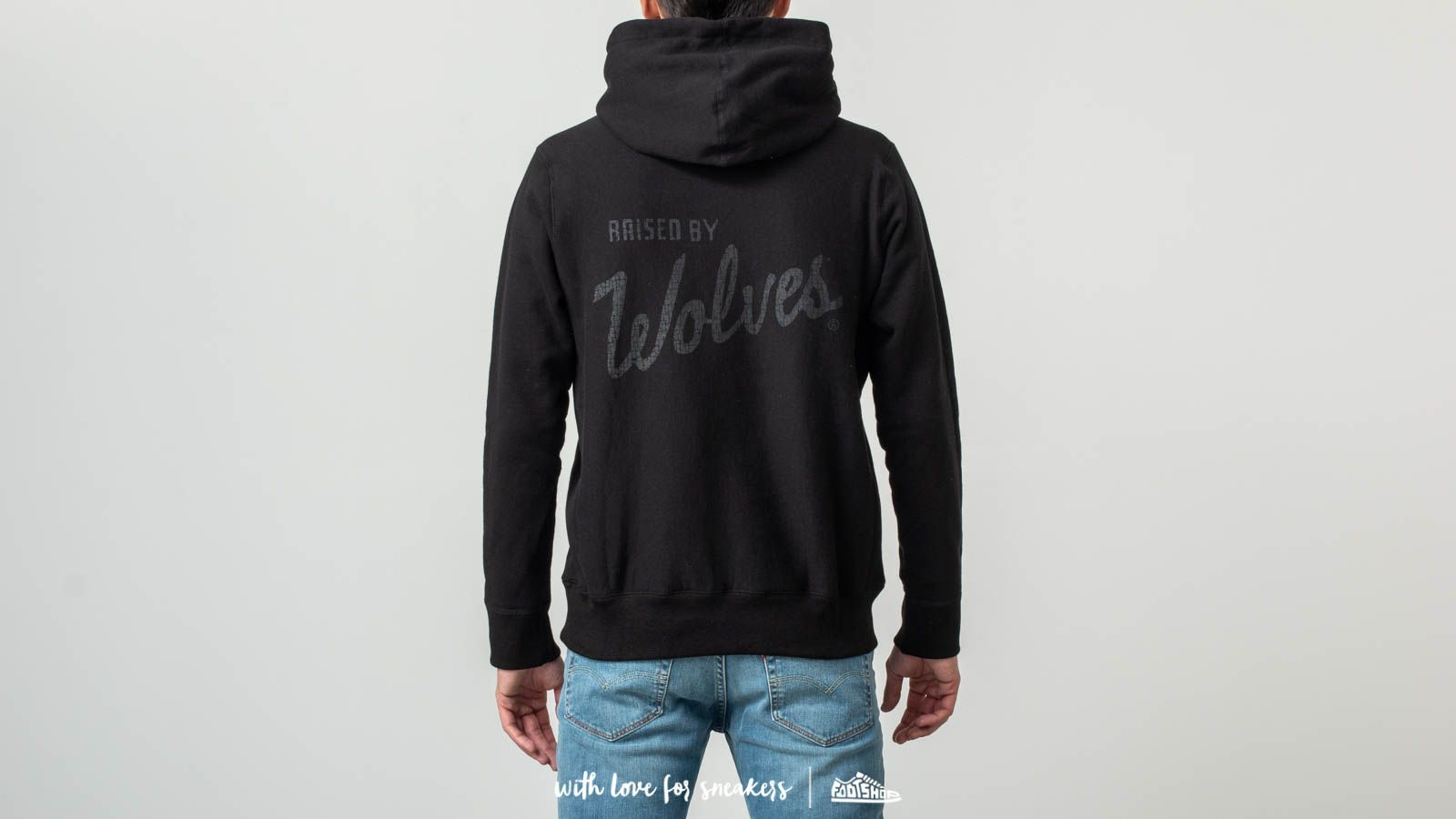 c23561207e3a Raised by Wolves Distressed Varsity Hoodie Black at a great price £146 buy  at Footshop
