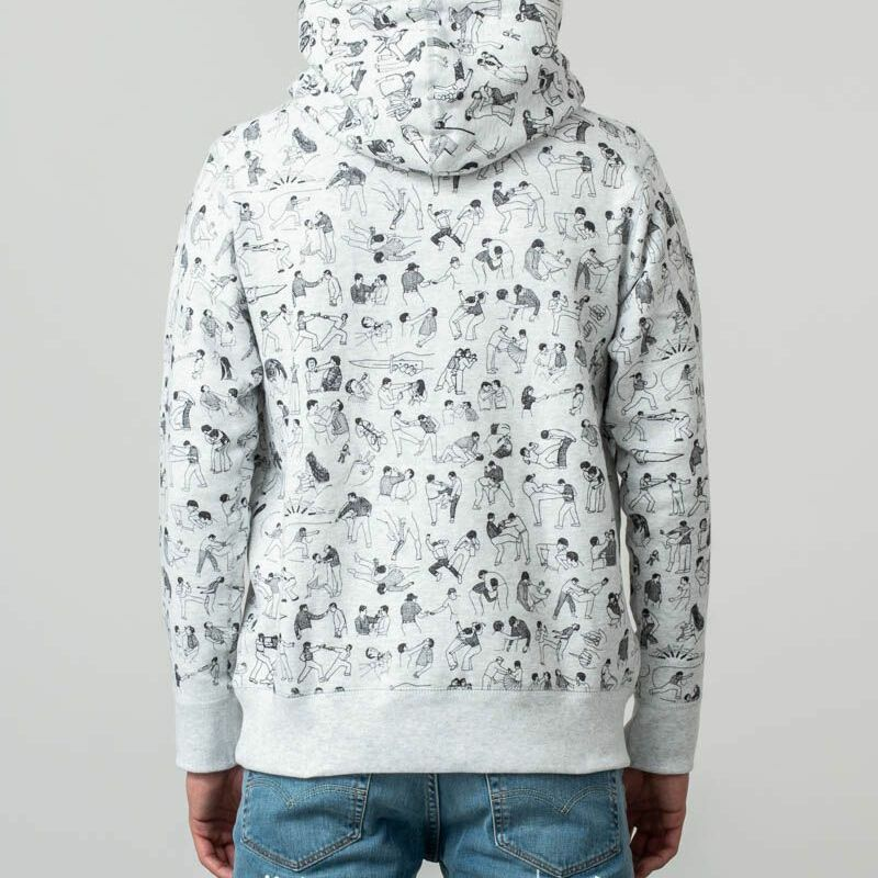 Raised by Wolves Riot Hoodie Heather Ash, Gray