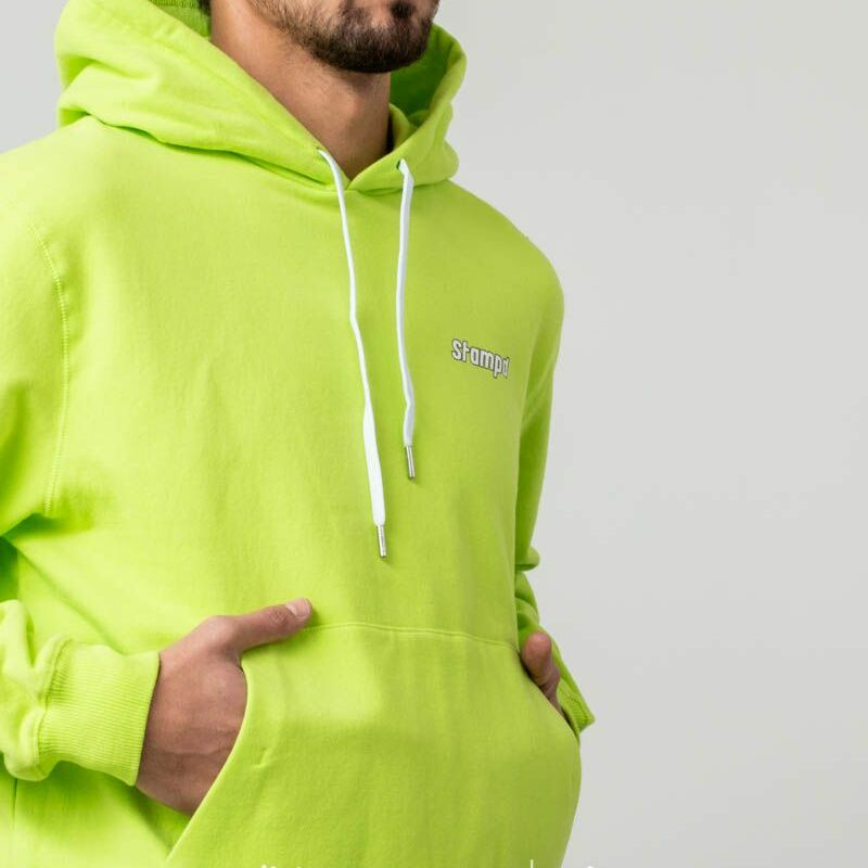 STAMPD KMS Hoodie Highlighter Yellow, Green