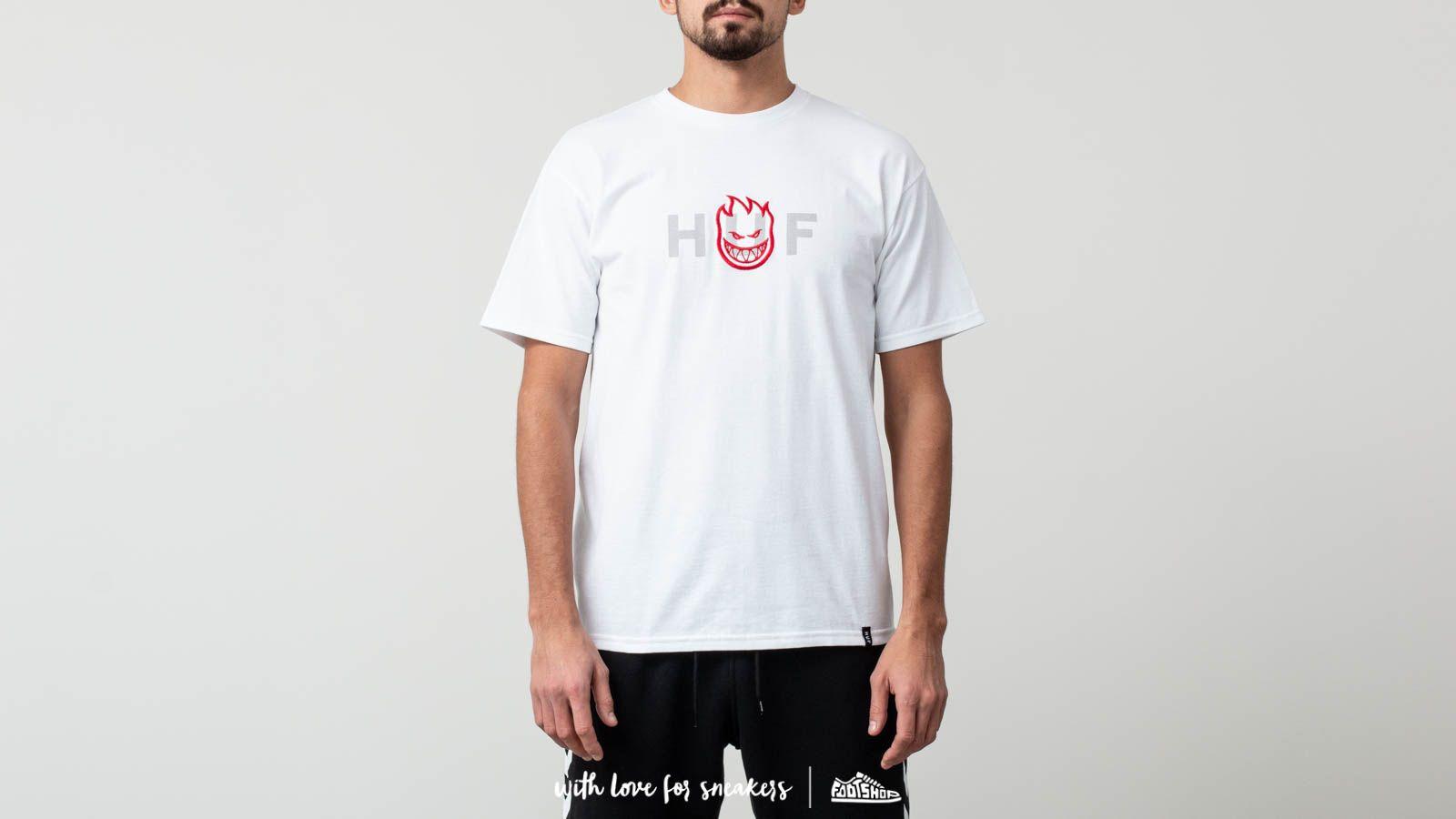 HUF Spitfire Logo Shortsleeves Tee White za skvělou cenu 830 Kč koupíte na Footshop.cz