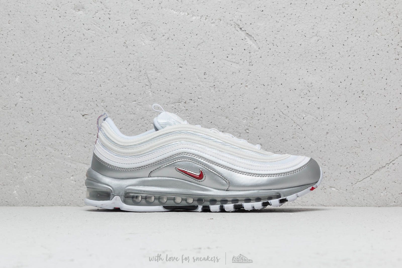 03f2797e40ba Nike Air Max 97 QS White  Varsity Red   Silver at a great price 180