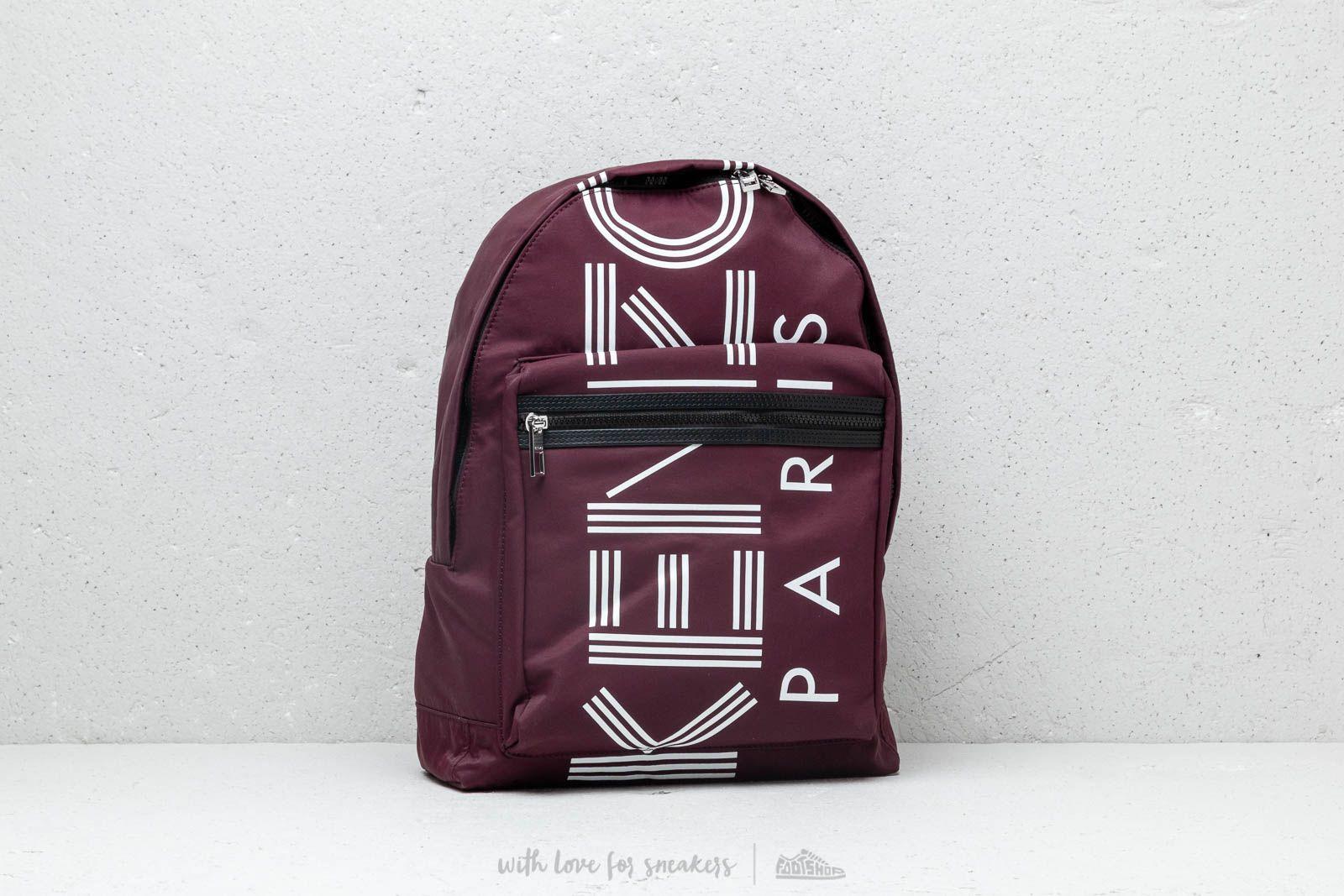 KENZO Large Logo Backpack Bordeaux