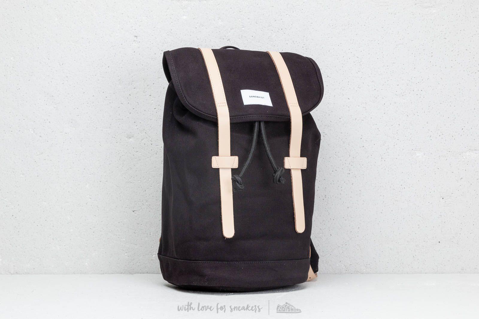 SANDQVIST Stig Backpack Black Natural za skvelú cenu 94 € kúpite na Footshop.sk