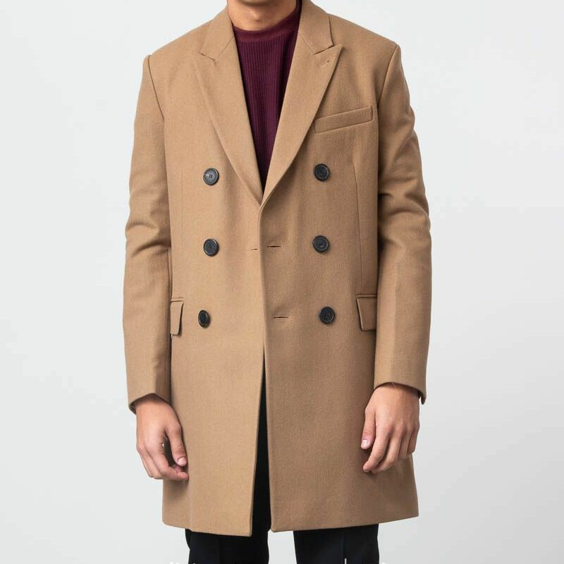 Alexandre Mattiussi Double Breasted Coat Camel