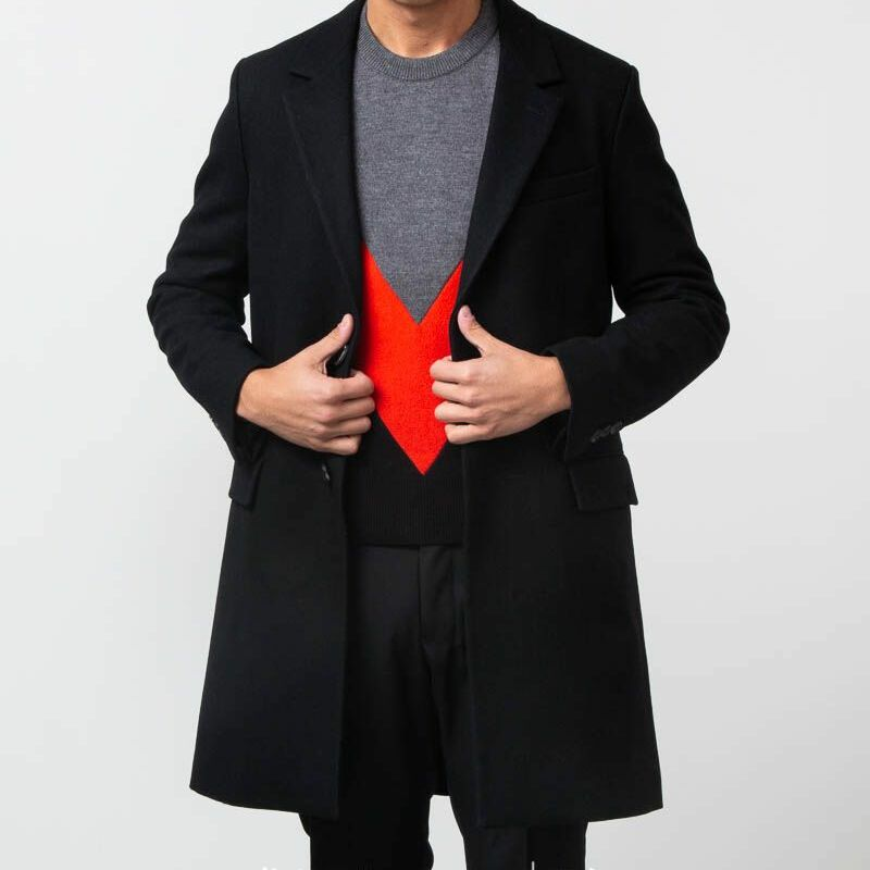 Alexandre Mattiussi Two Buttons Coat Black