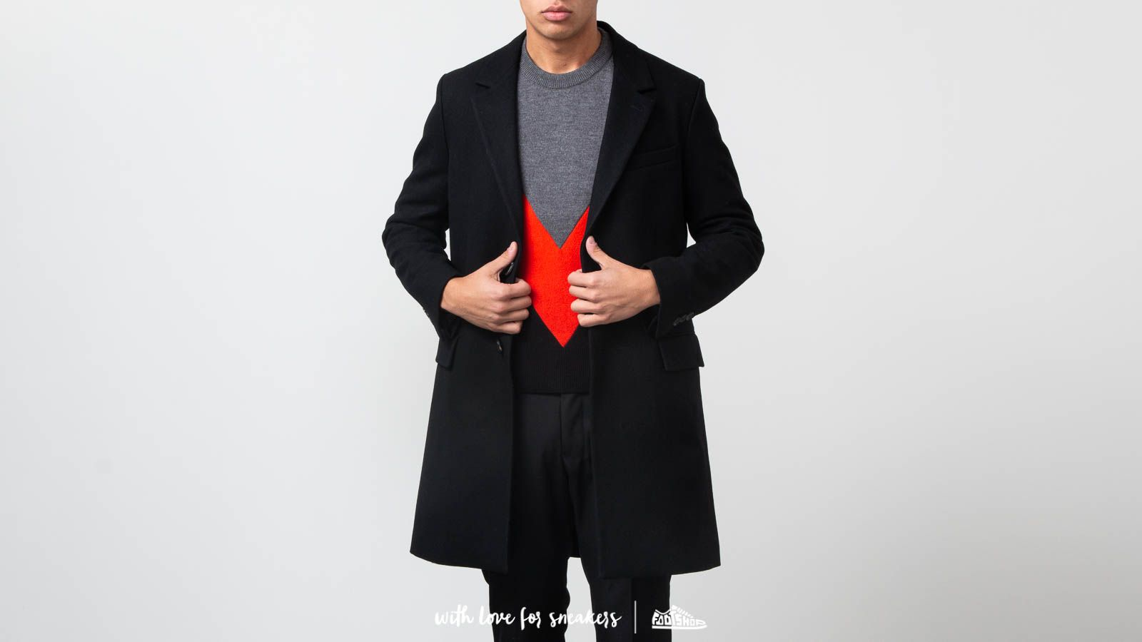 Kaputi Alexandre Mattiussi Two Buttons Coat Black