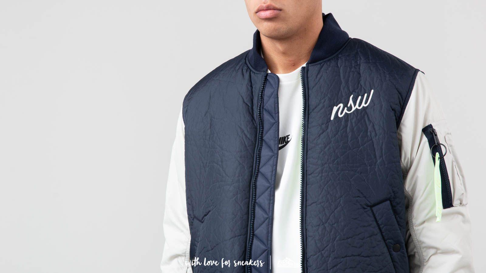 Nike Sportswear Down Fill Bomber Jacket Blue White | Footshop