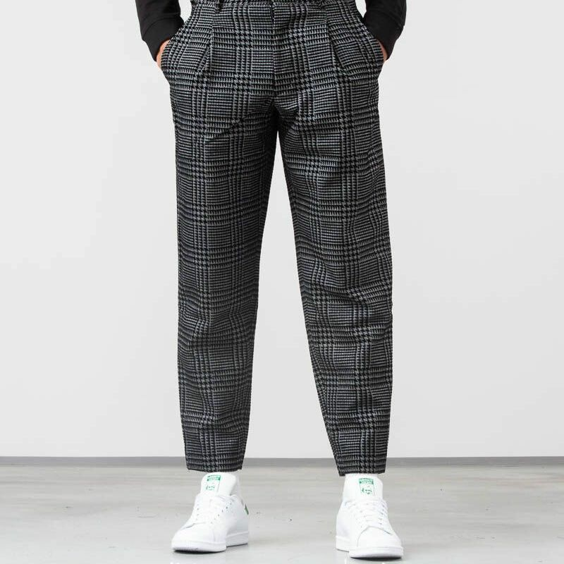 John Elliott Wide Tuck Pants Houndstooth