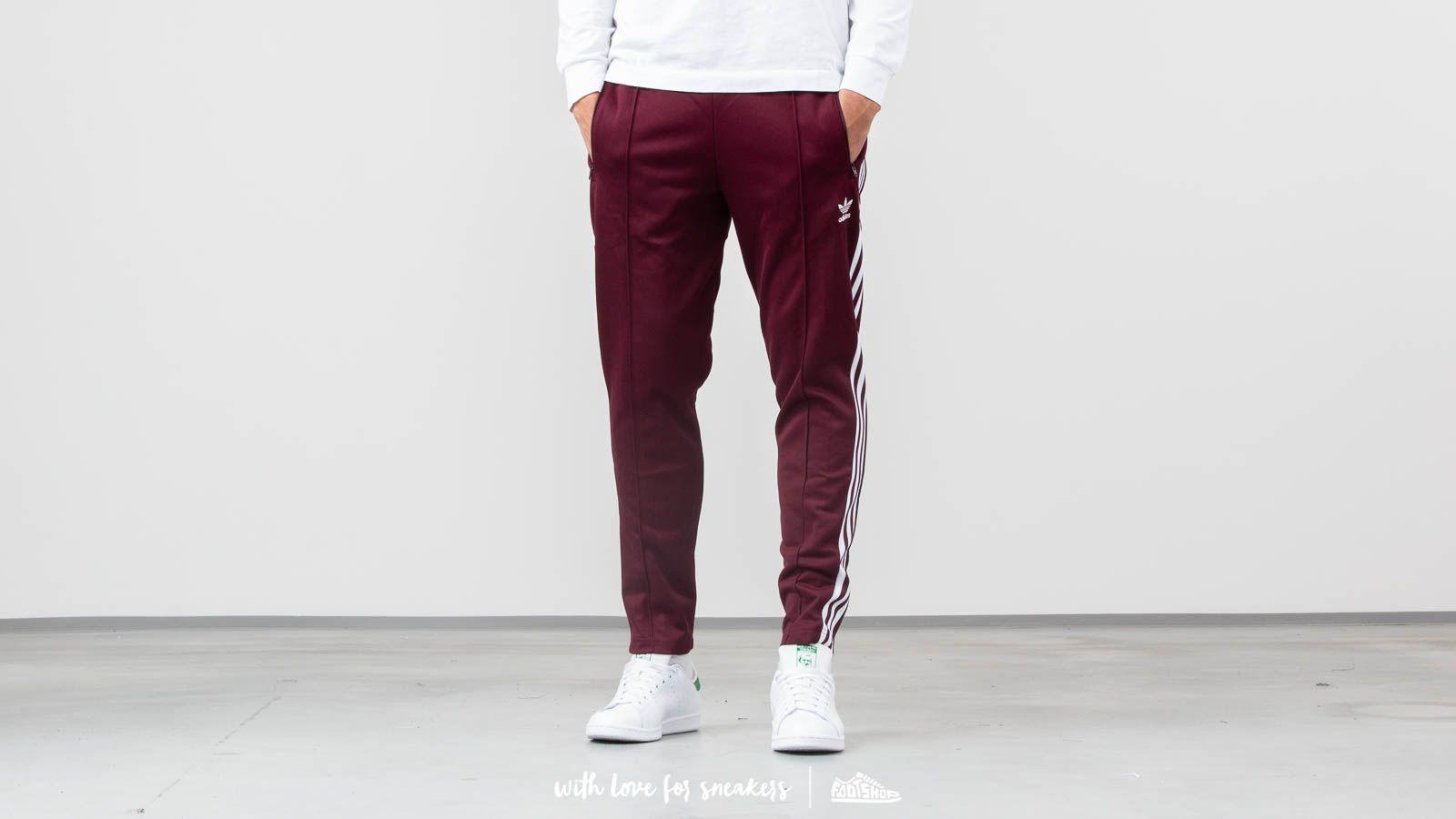 adidas Beckenbauer Track Pants Maroon | Footshop