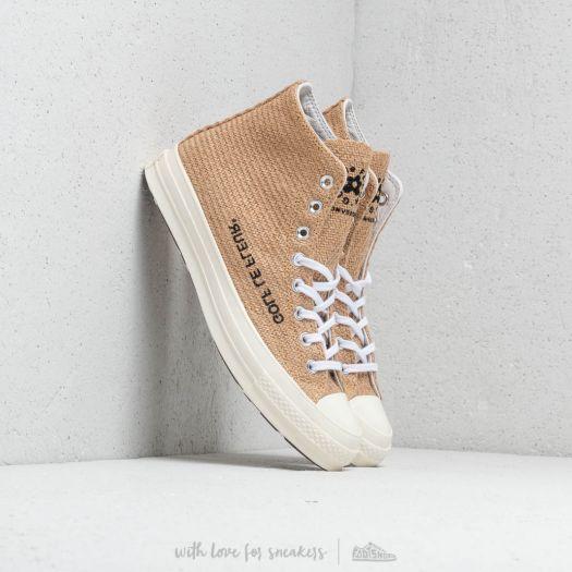 Men S Shoes Converse X Golf Le Fleur Chuck Taylor All Star 70 Hi Curry Egret Black Footshop