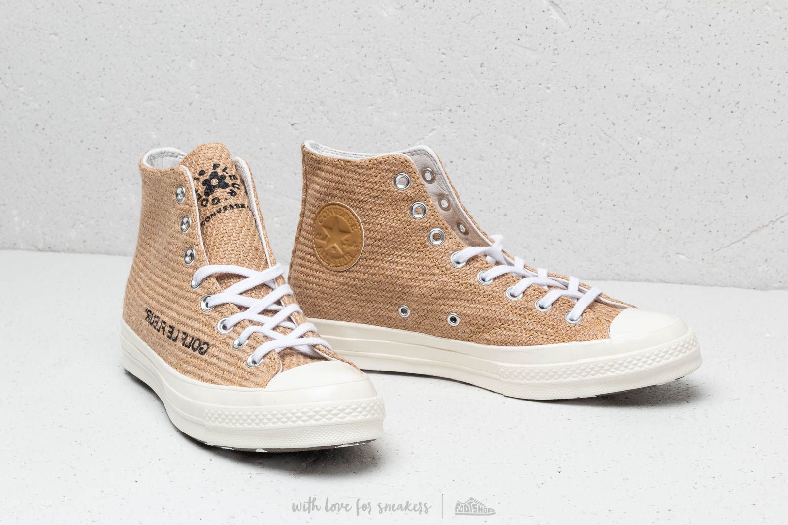 Converse X Golf Le Fleur Chuck Taylor All Star 70 Hi Curry Egret Black