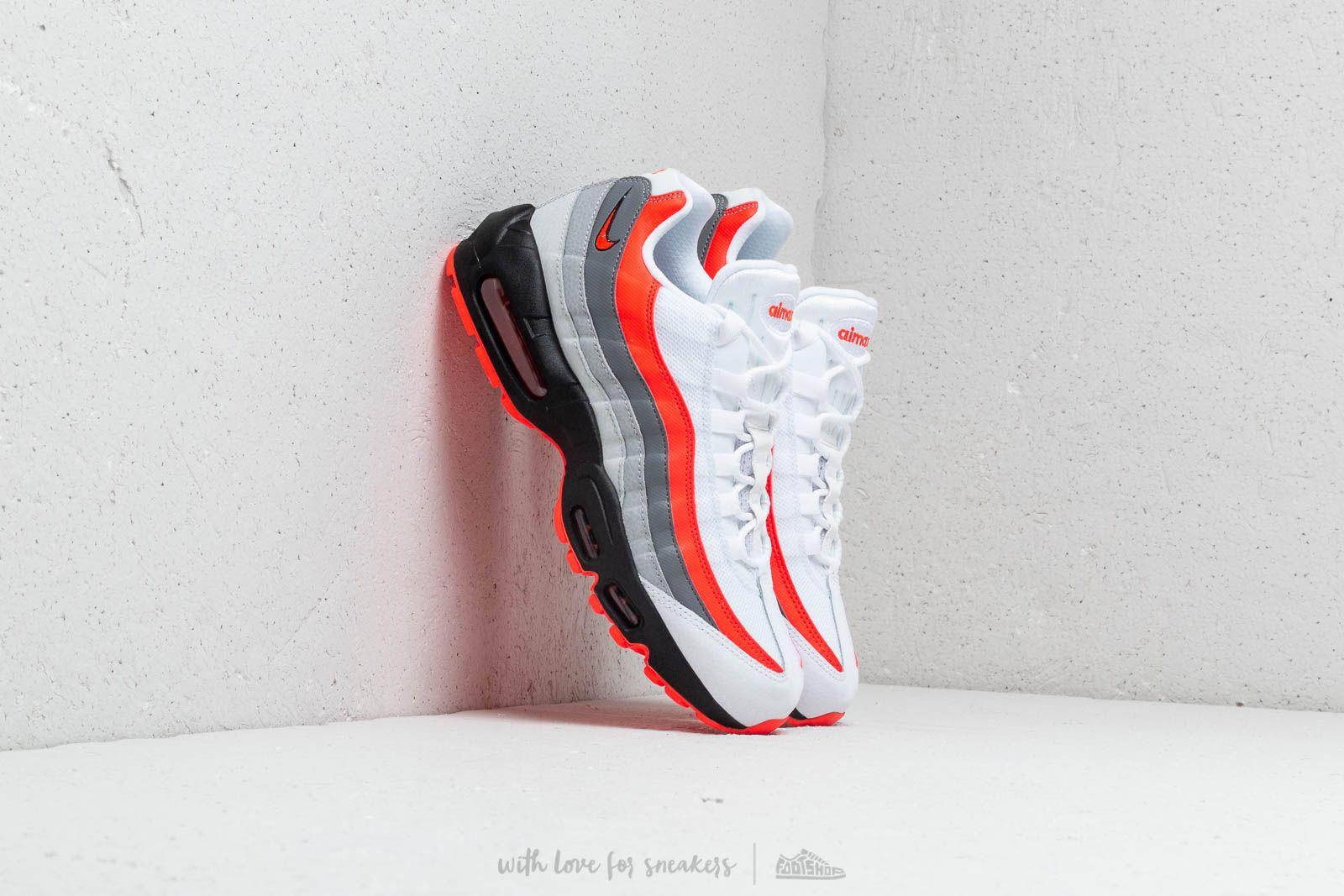 Nike Air Max 95 Essential White Bright Crimson Black Pure Platinum | Footshop