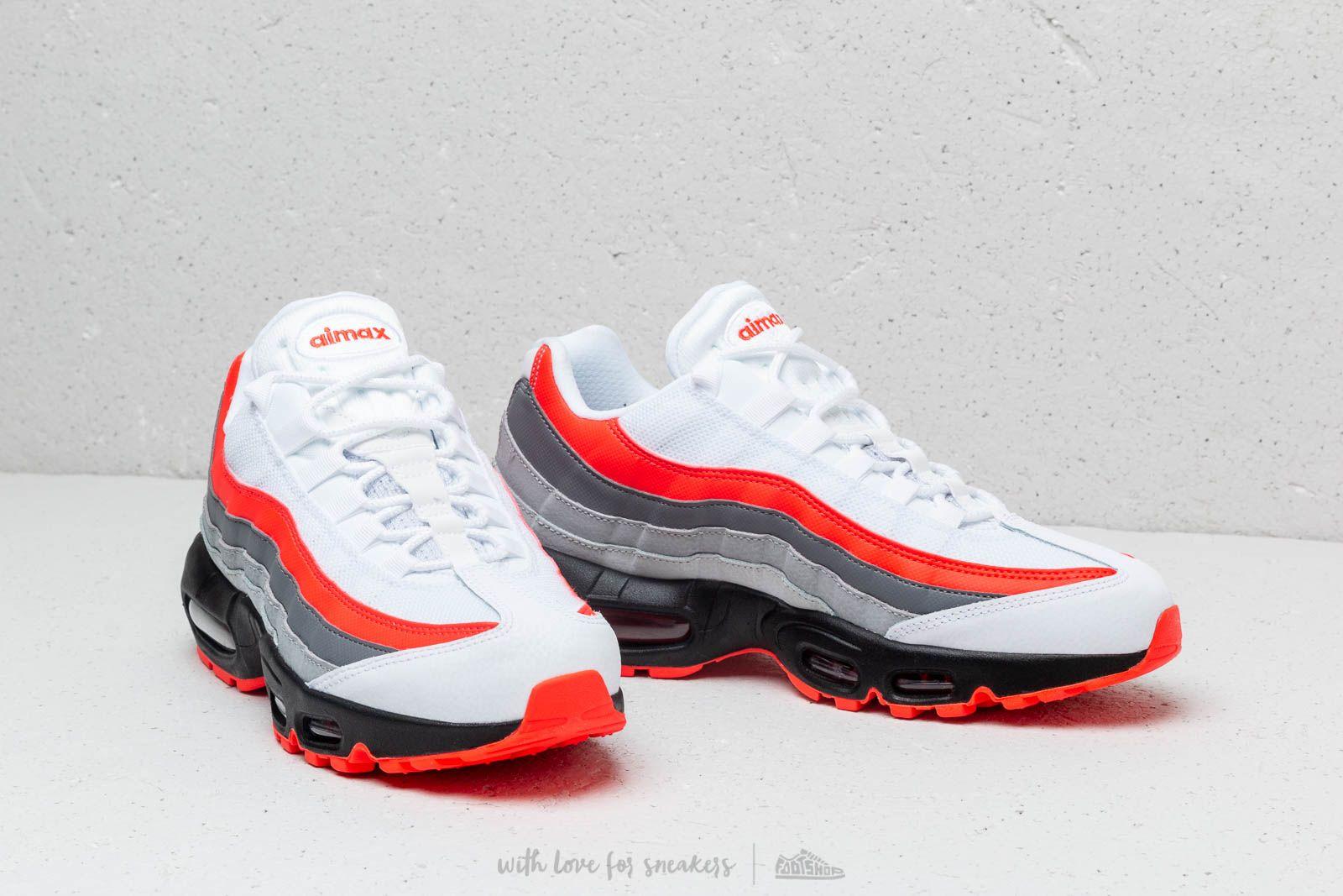 Nike Air Max 95 Essential WhiteBright Crimson Men's Running