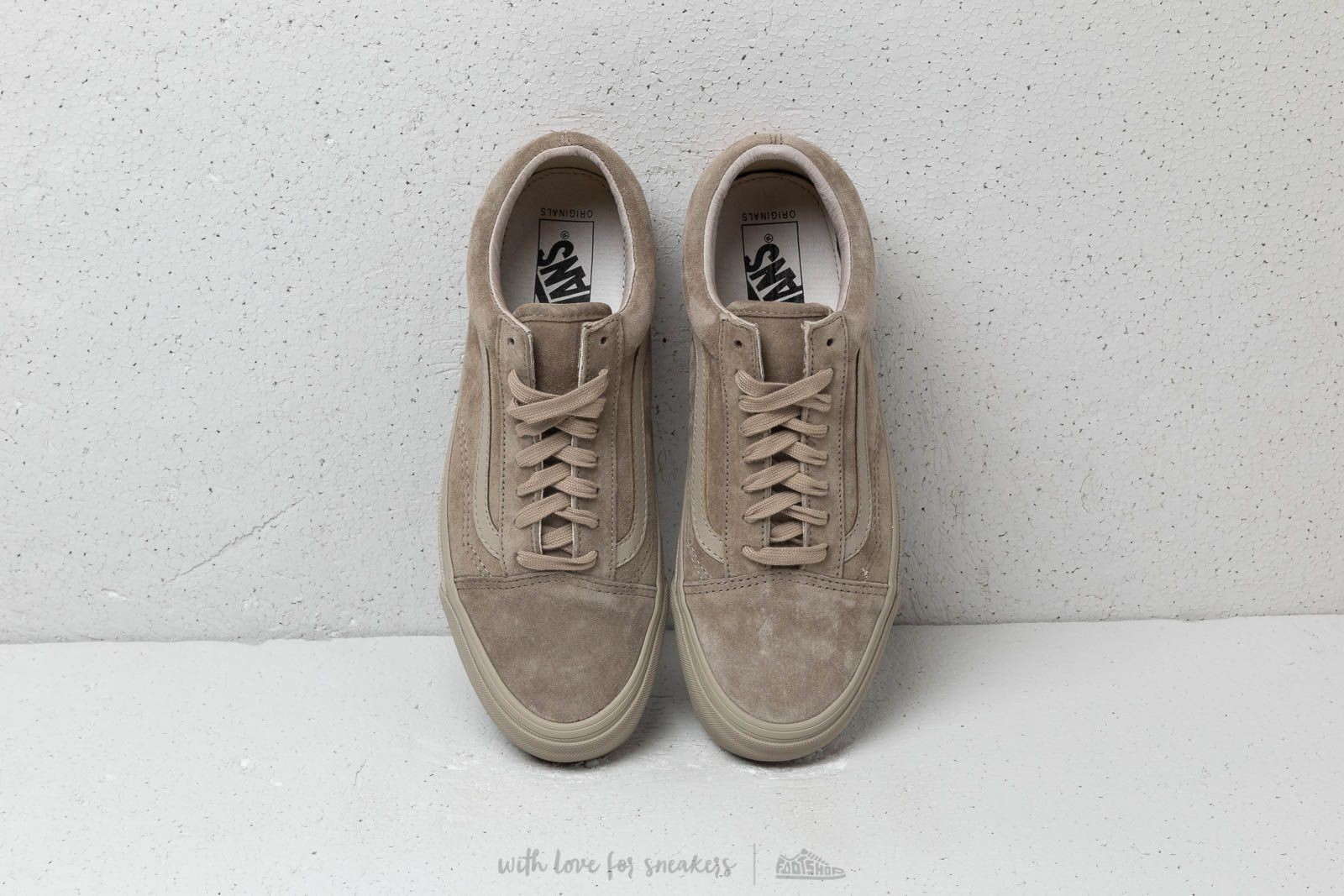 72e2390037c18c Vans OG Old Skool LX (Leather  Suede) Plaze Taupe at a great price