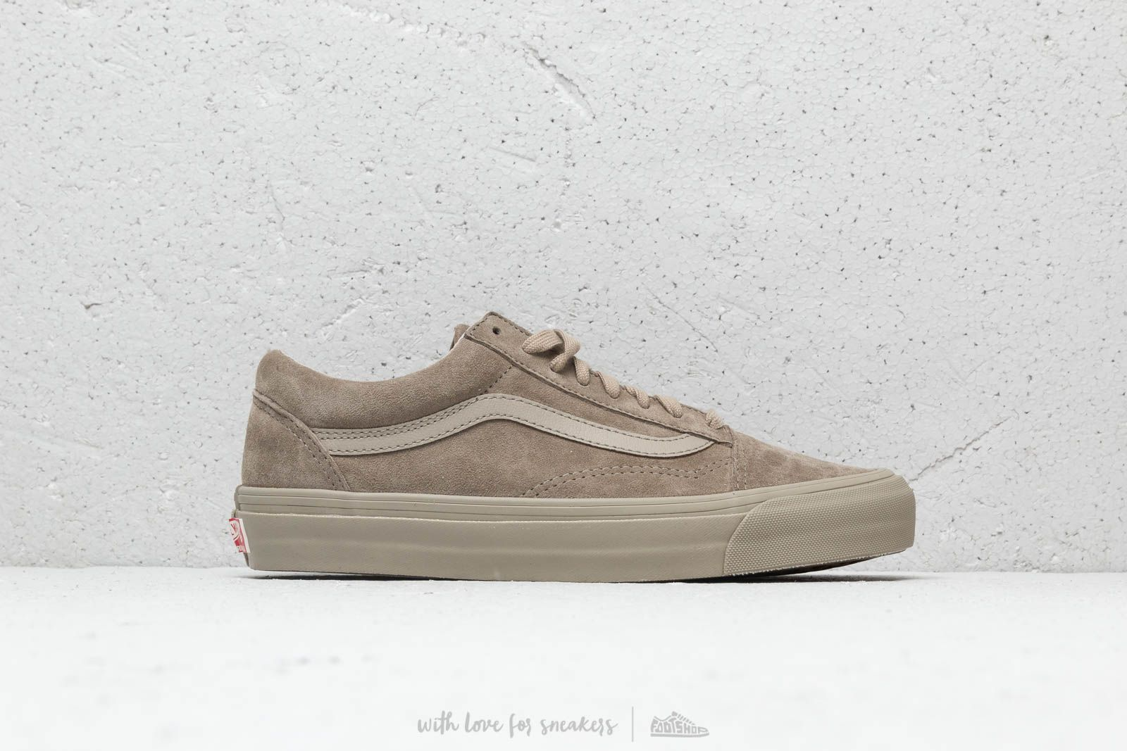 09f671a85b Vans OG Old Skool LX (Leather  Suede) Plaze Taupe at a great price