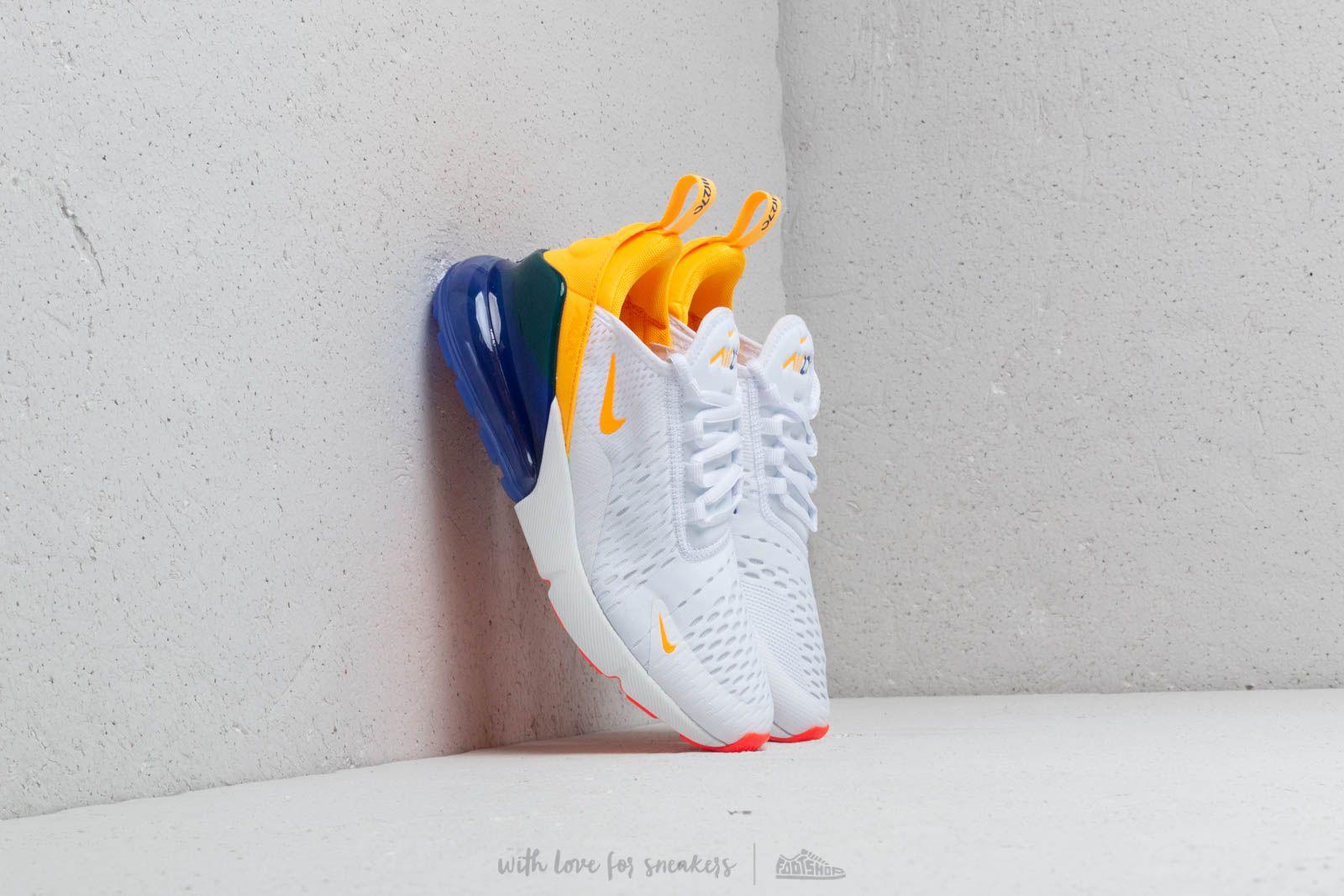 nike air max 270 white orange