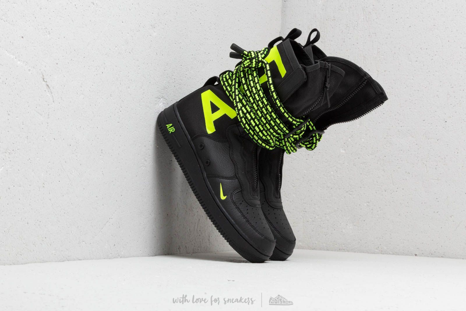 Nike Air Force 1 SF Hi Black  Volt-Black  b77f5be3ced5