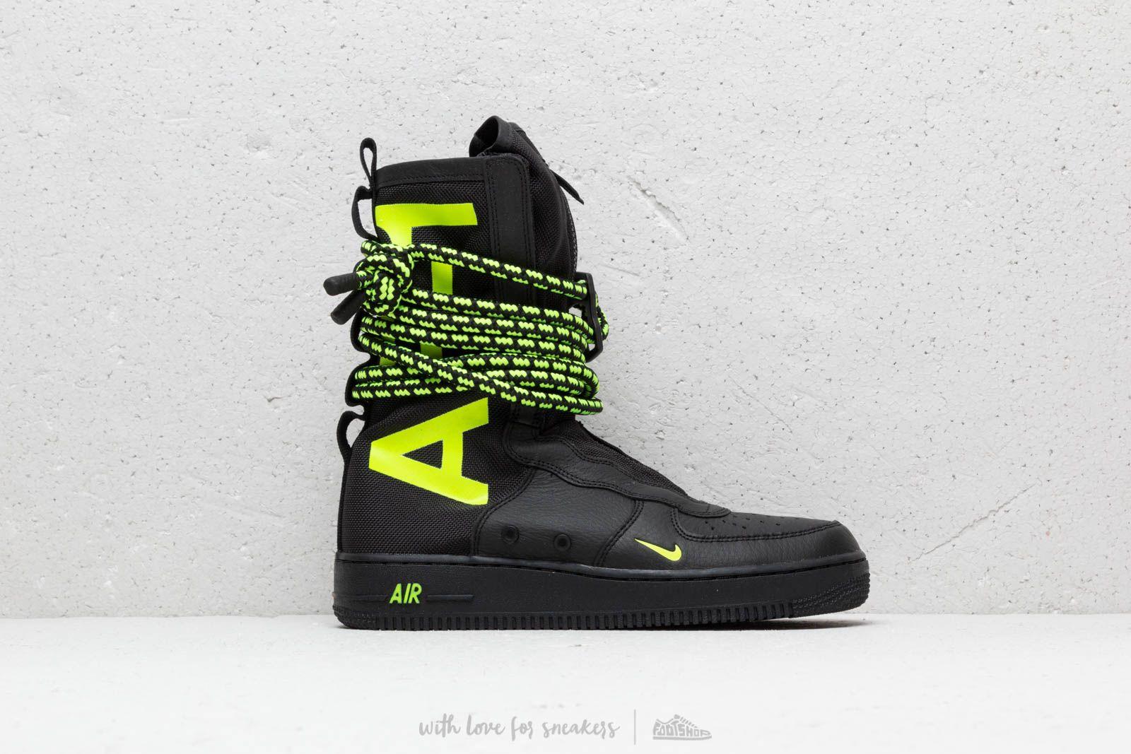 Scarpe e sneaker da uomo Nike Air Force 1 SF Hi Black Volt