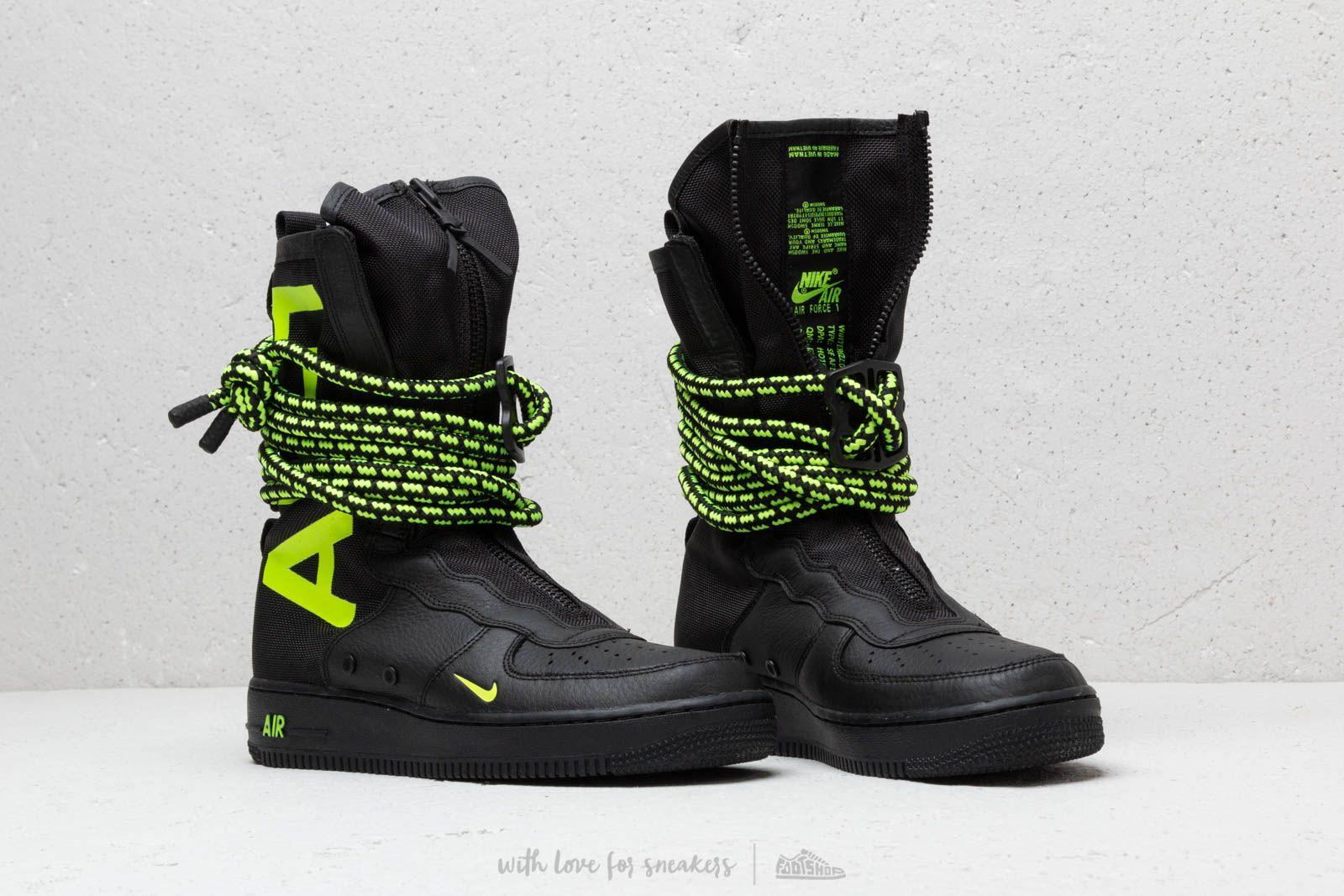Nike Air Force 1 SF Hi Black/ Volt-Black | Footshop