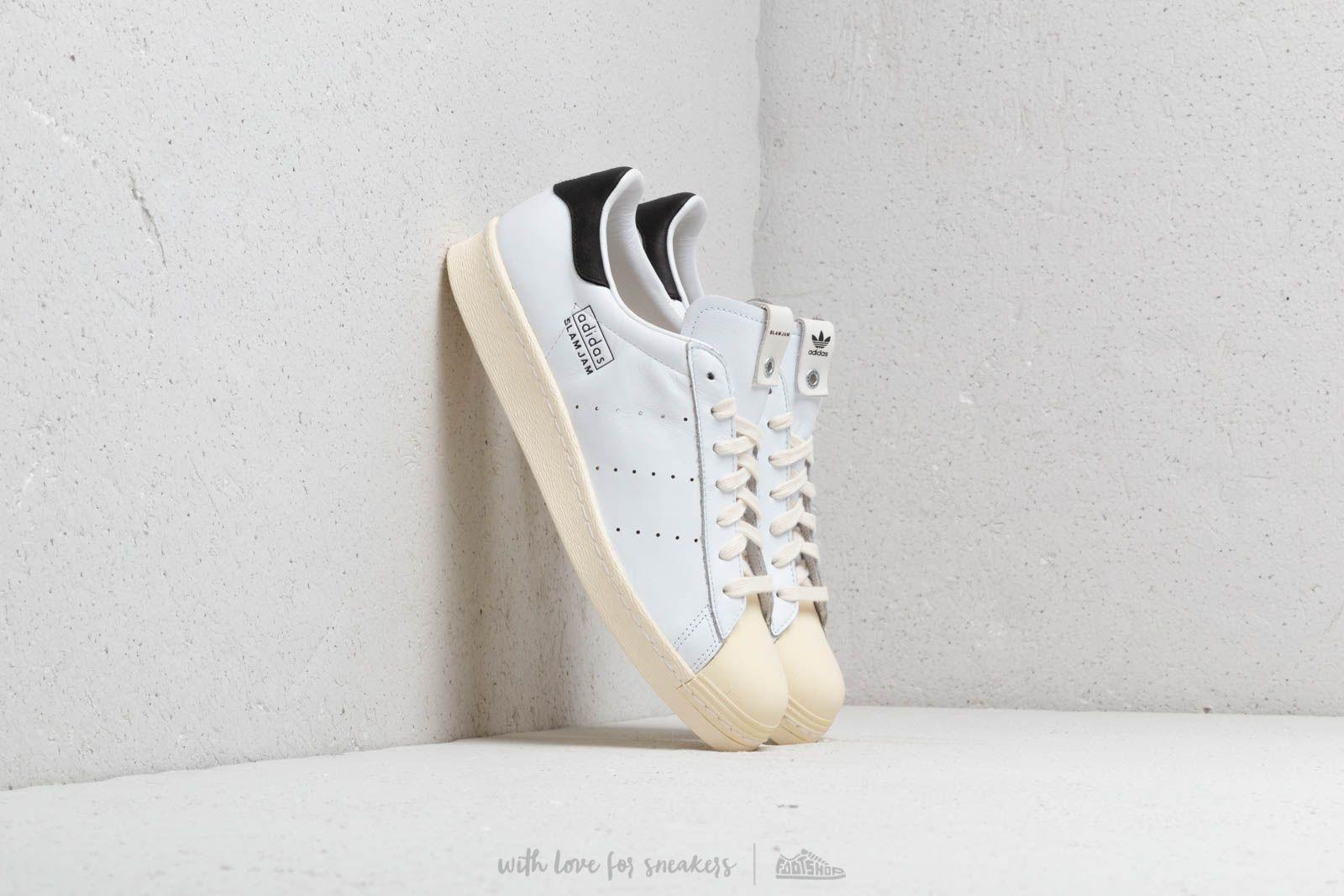 best service eabd0 c1b79 adidas Consortium x Slam Jam Superstar 80s Ftw White  Ftw White  Ftw White  at