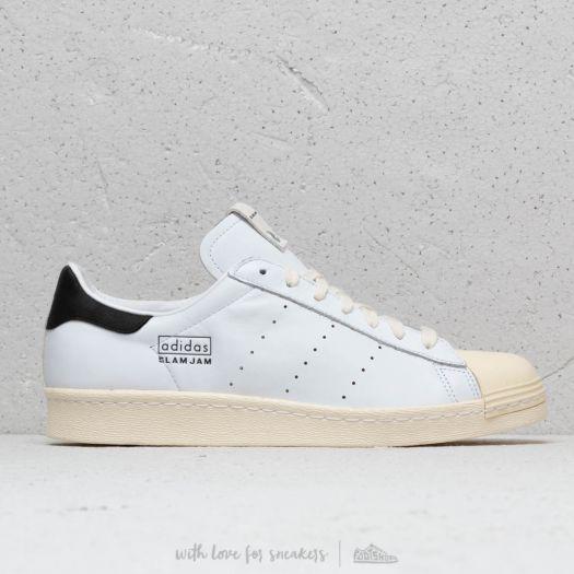 adidas consortium x slam jam superstar 80s white