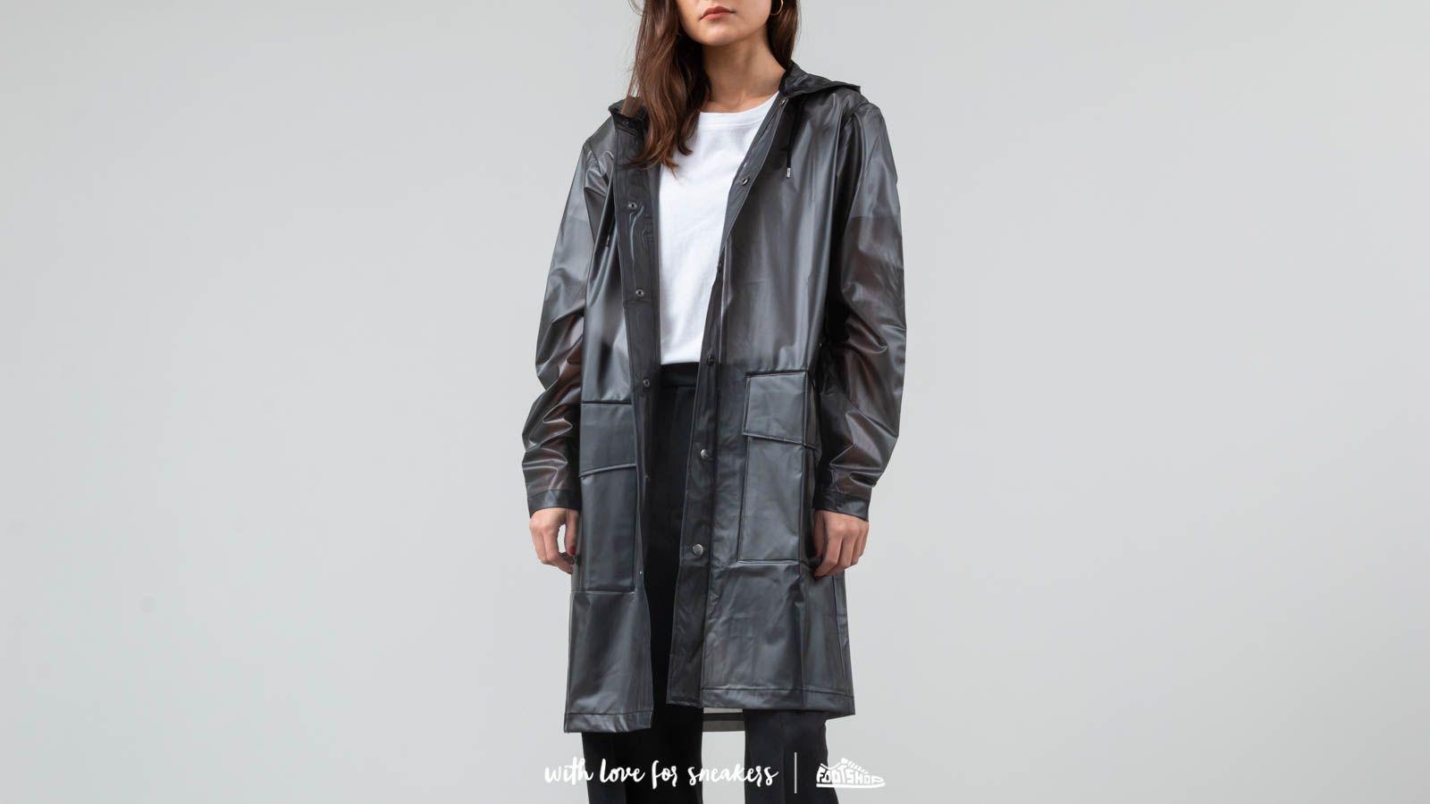 Rains Hooded Coat Foggy Black za skvělou cenu 2 240 Kč koupíte na Footshop.cz