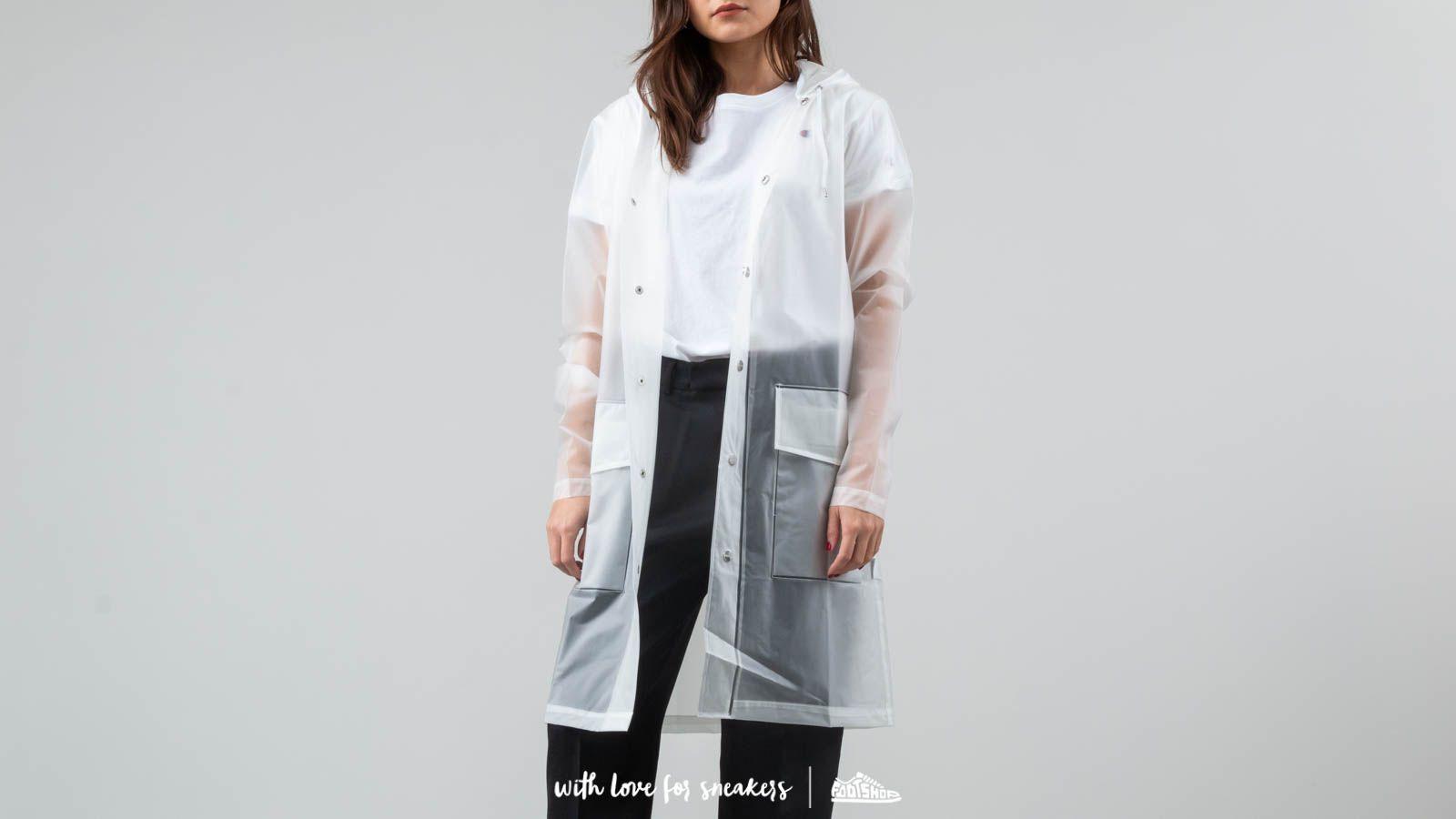 Bundy Rains Hooded Coat Foggy White