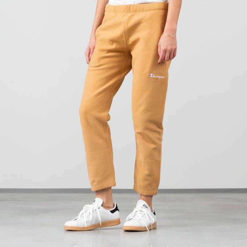 Champion Elastic Cuff Pants Beige, Yellow