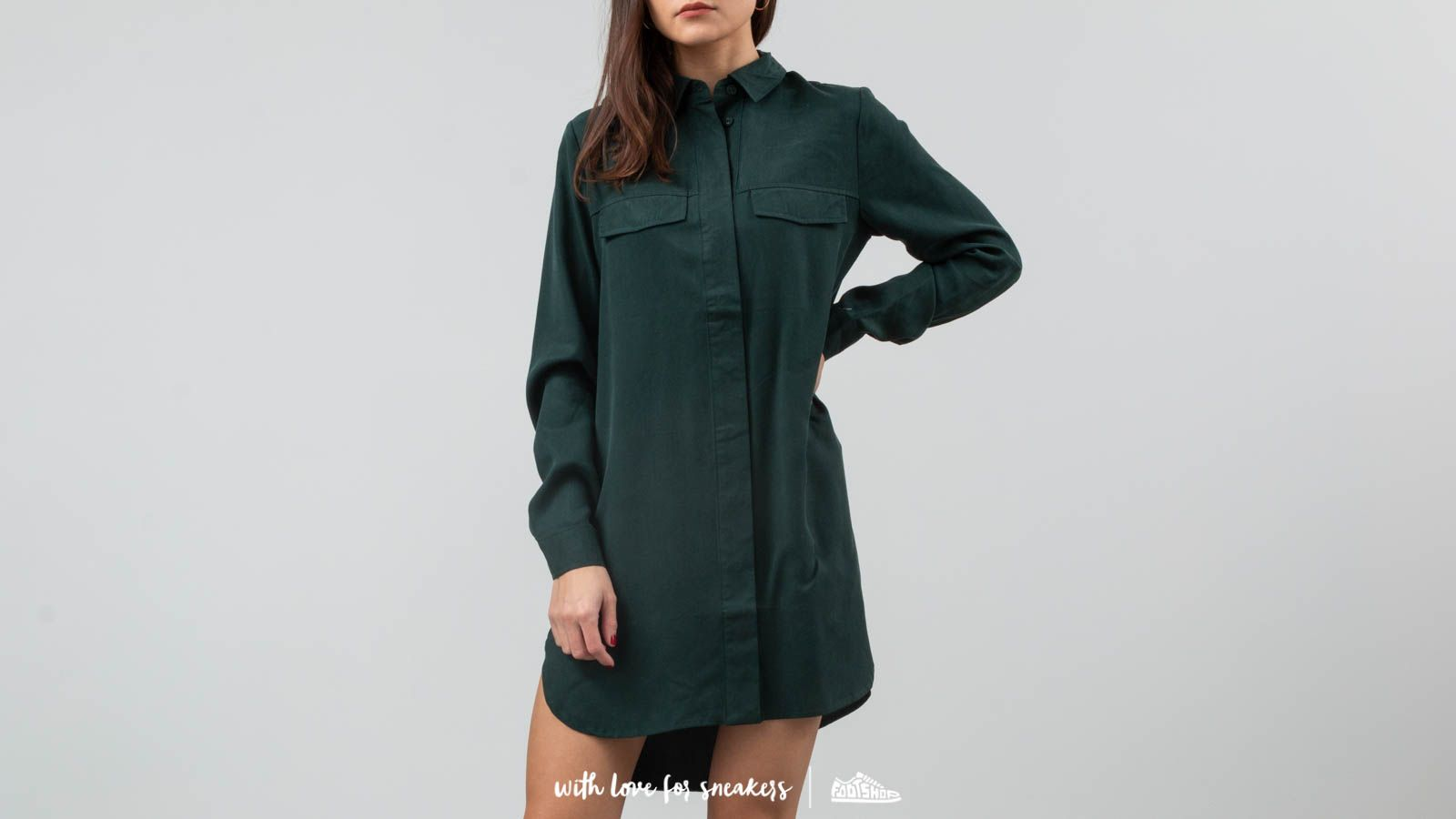 Košile SELECTED Frita Long Shirt Scarab
