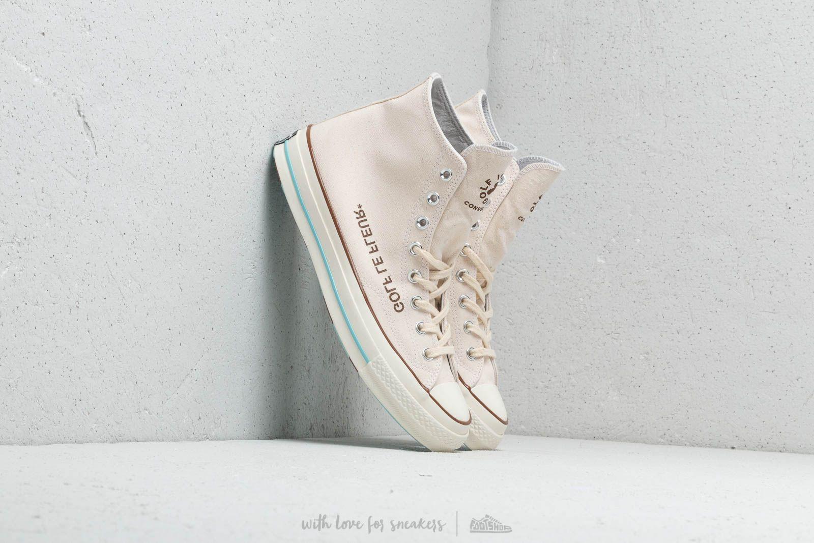 Men S Shoes Converse X Golf Le Fleur Chuck Taylor All Star 70 Hi Parchment Egret Blue