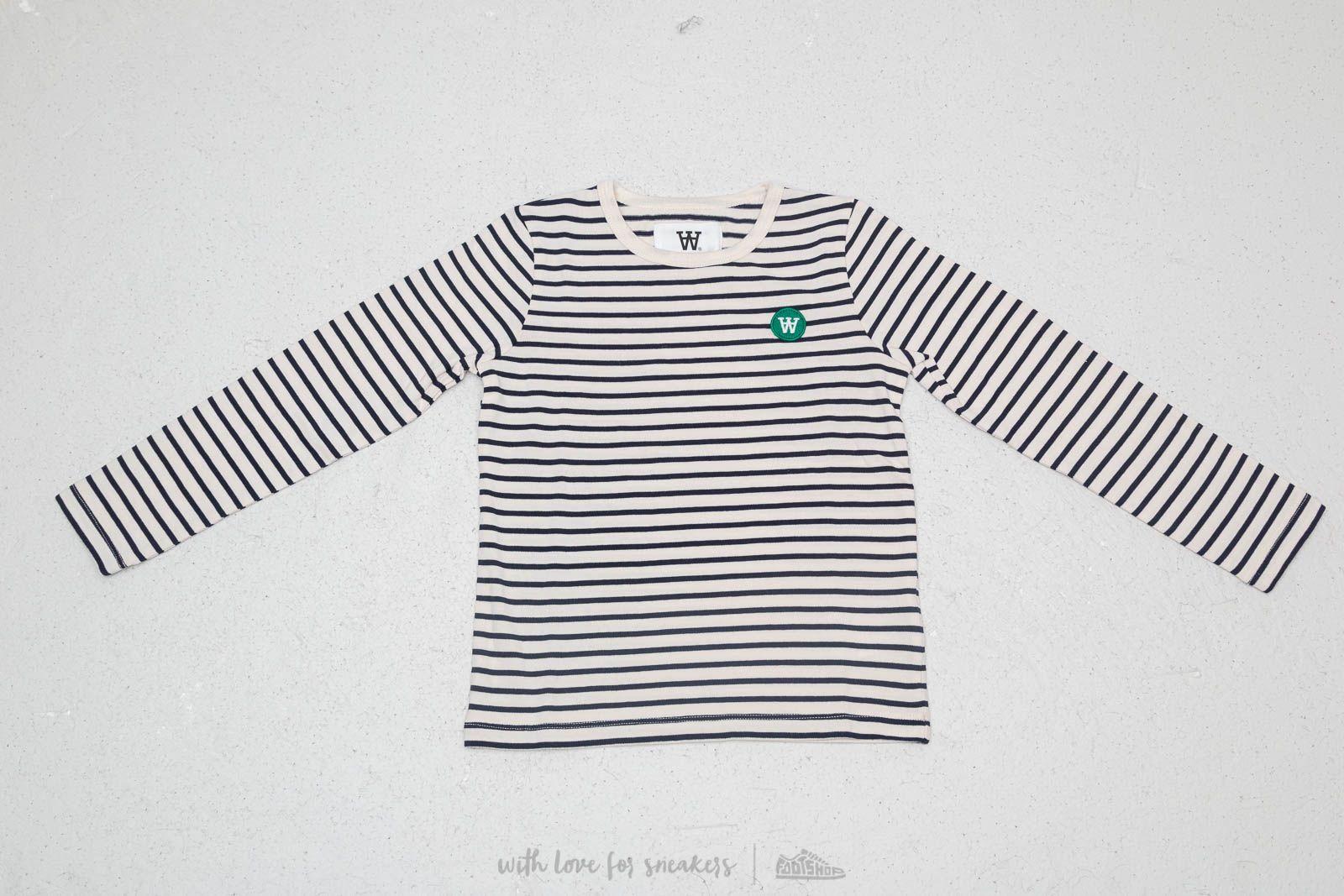 WOOD WOOD Kids Kim Longsleeve Tee Off White/ Navy Stripes za skvělou cenu 630 Kč koupíte na Footshop.cz