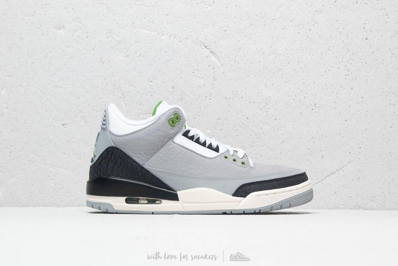 84c7ea825f5 Air Jordan 3 Retro Lt Smoke Grey  Chlorophyll a muy buen precio 192 €  comprar