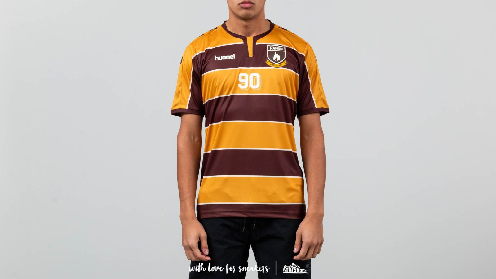 T-shirts en shirts Hummel x Hanon HB Team Jersey Tee Orange/ Brown